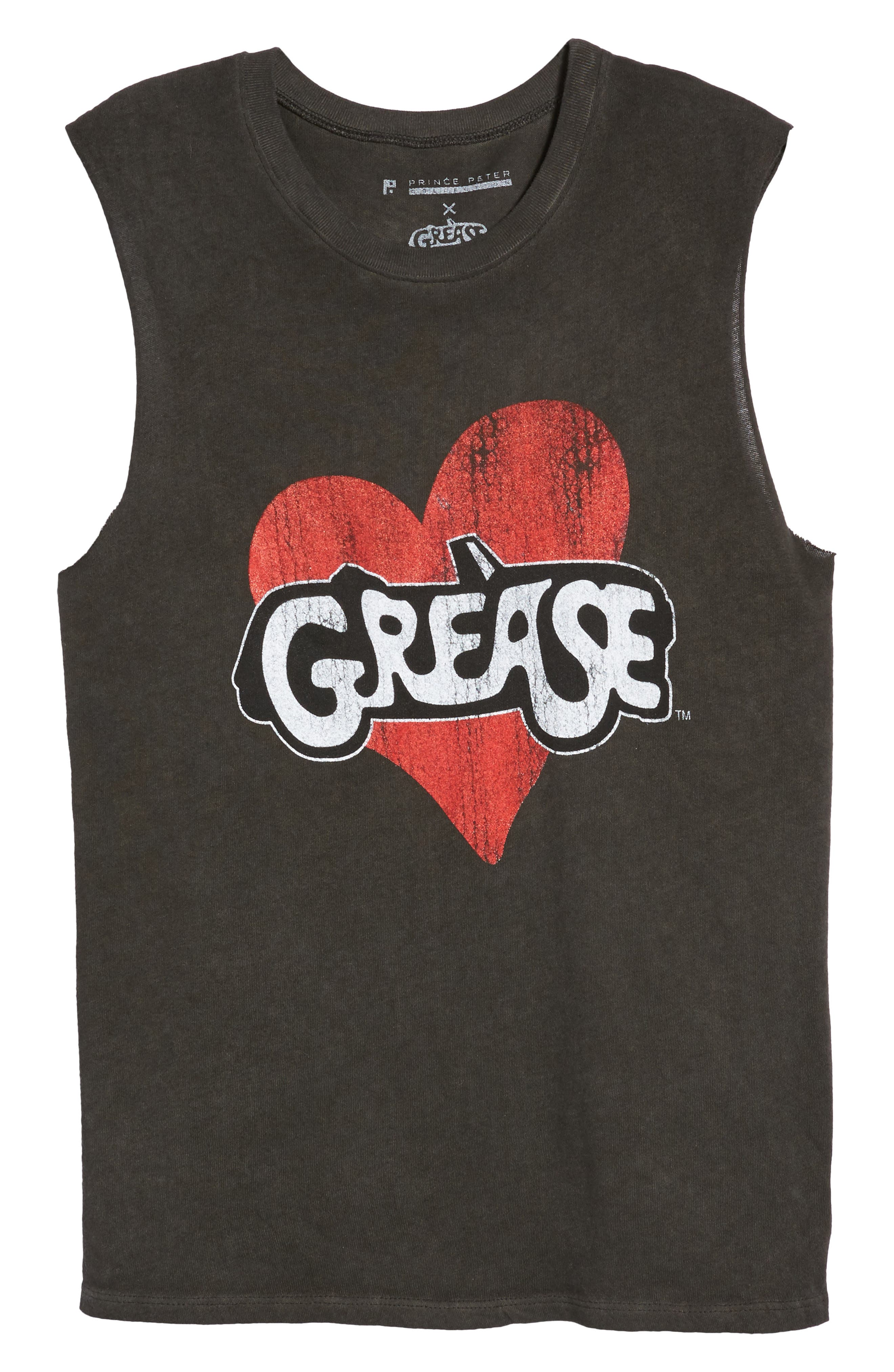 x Grease Muscle Tee,                             Alternate thumbnail 6, color,                             Vintage Black
