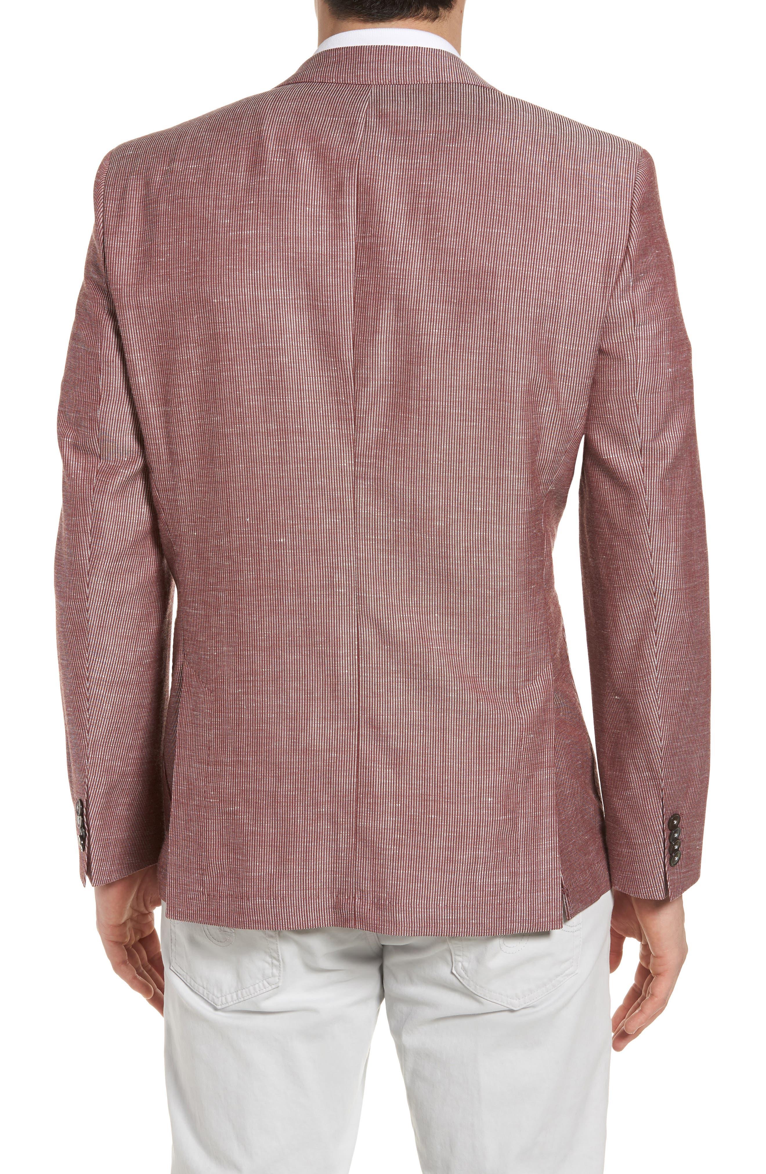 Janson Classic Fit Stripe Wool Blend Sport Coat,                             Alternate thumbnail 2, color,                             Red