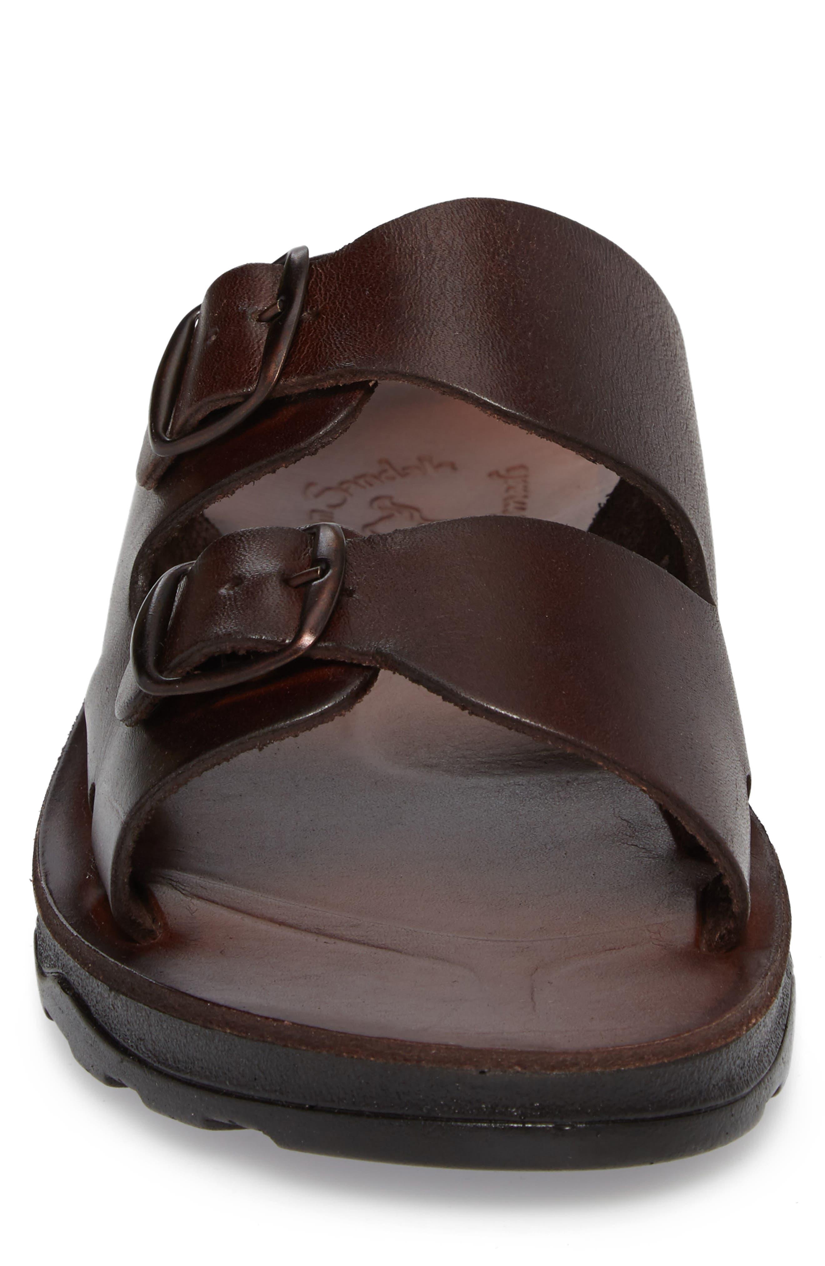 Barnabas Sandal,                             Alternate thumbnail 4, color,                             Brown Leather
