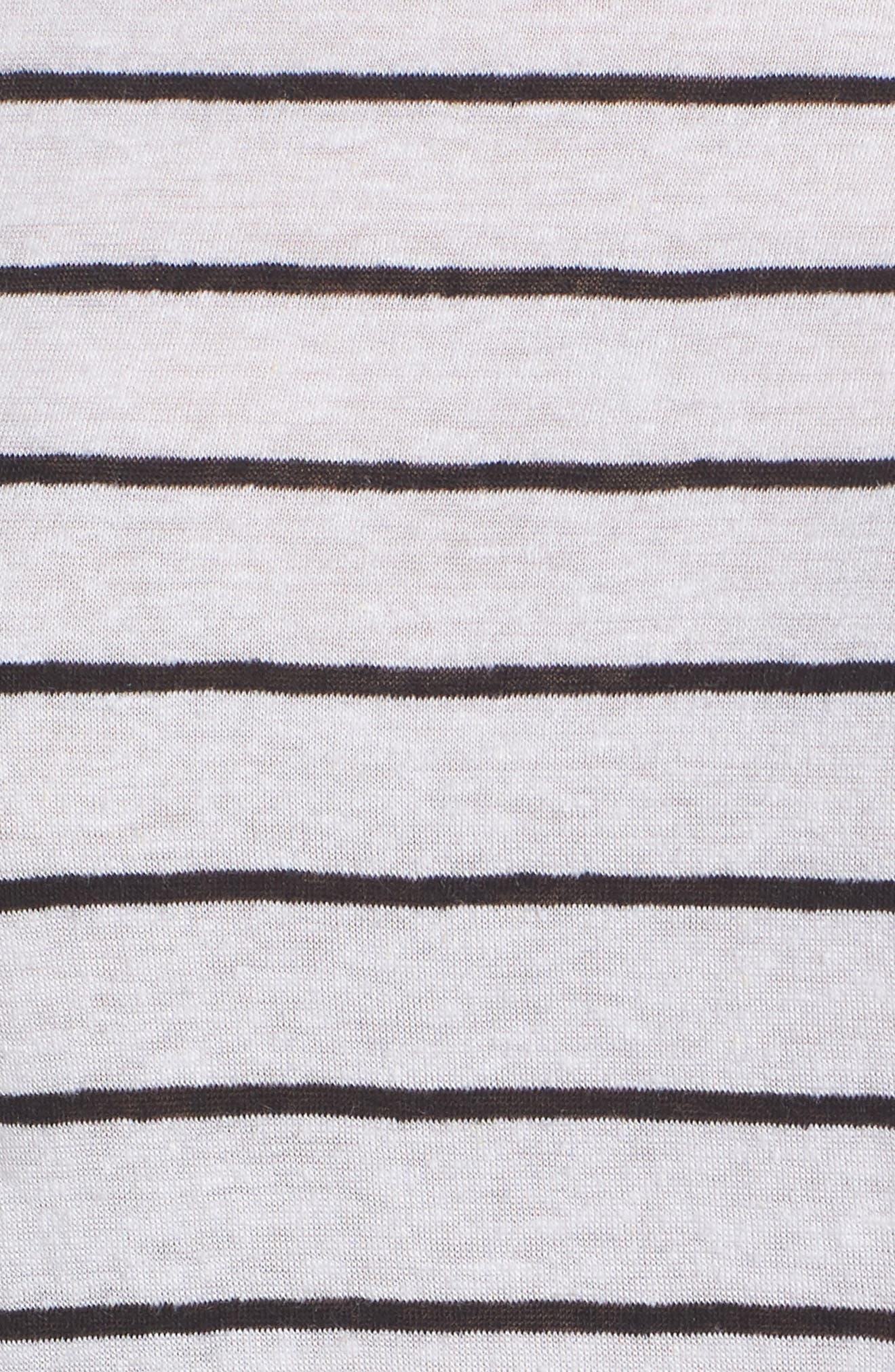 Splice Neck Tie Hem Tee,                             Alternate thumbnail 6, color,                             White Jenna Stp