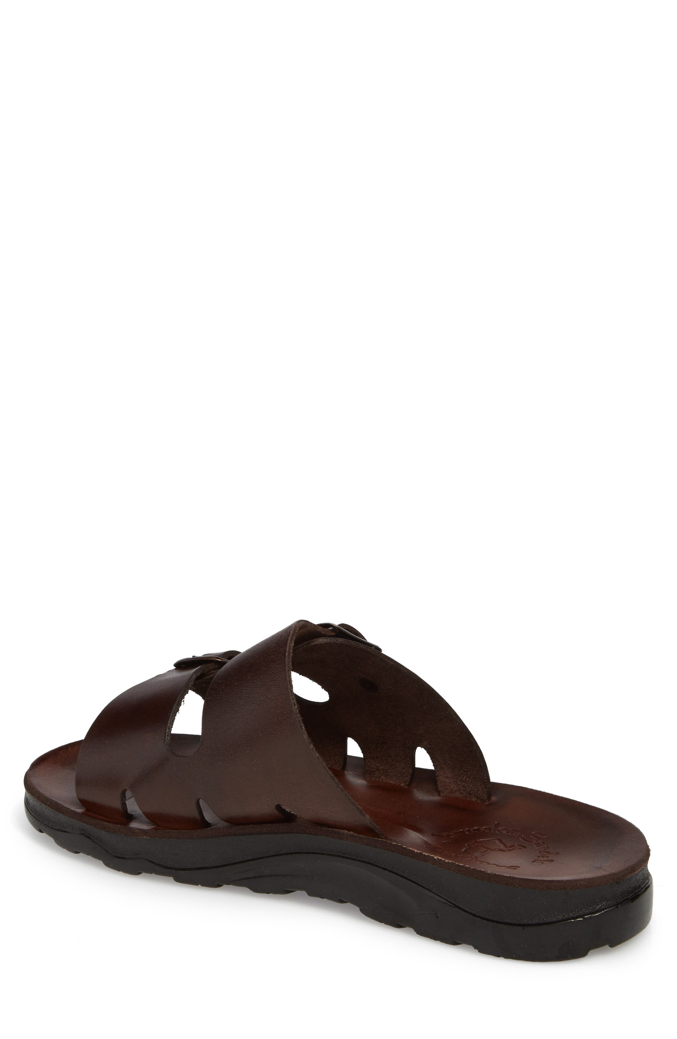 Barnabas Sandal,                             Alternate thumbnail 2, color,                             Brown Leather