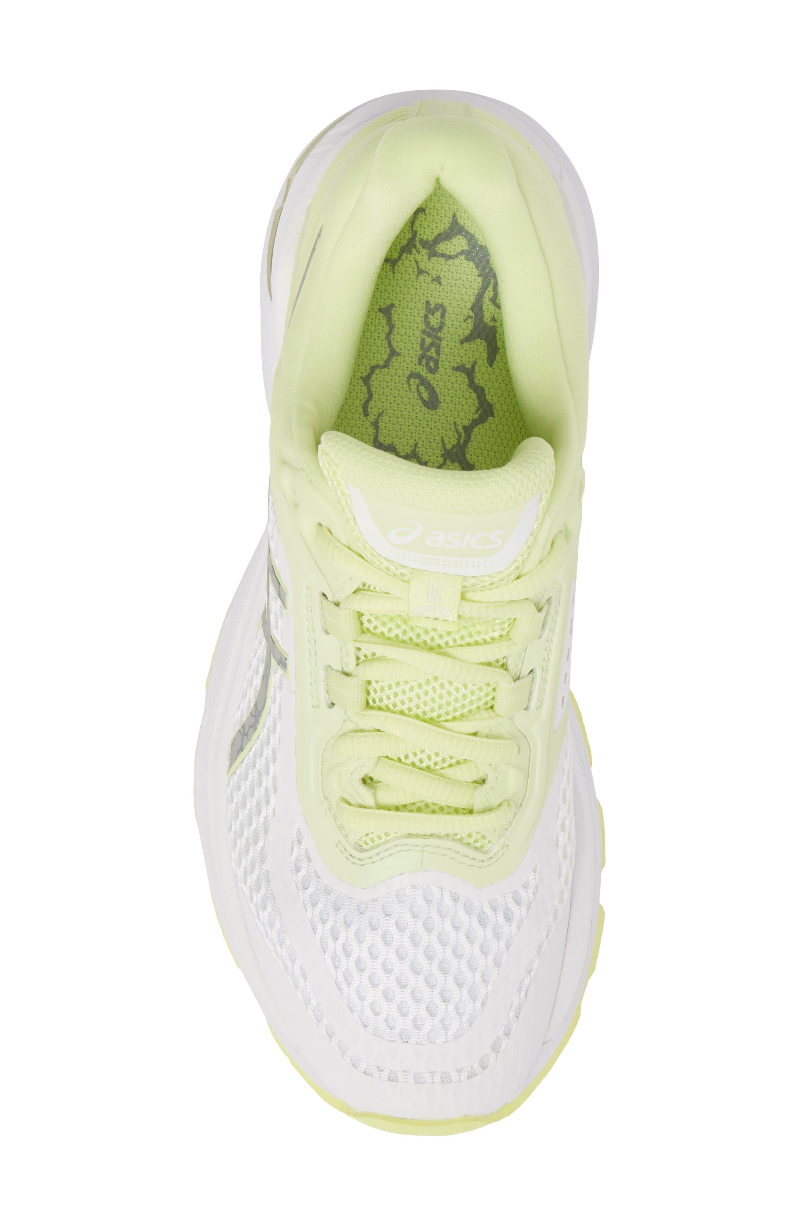 GT-2000 6 Running Shoe,                             Alternate thumbnail 5, color,                             White/ Silver/ Limelight