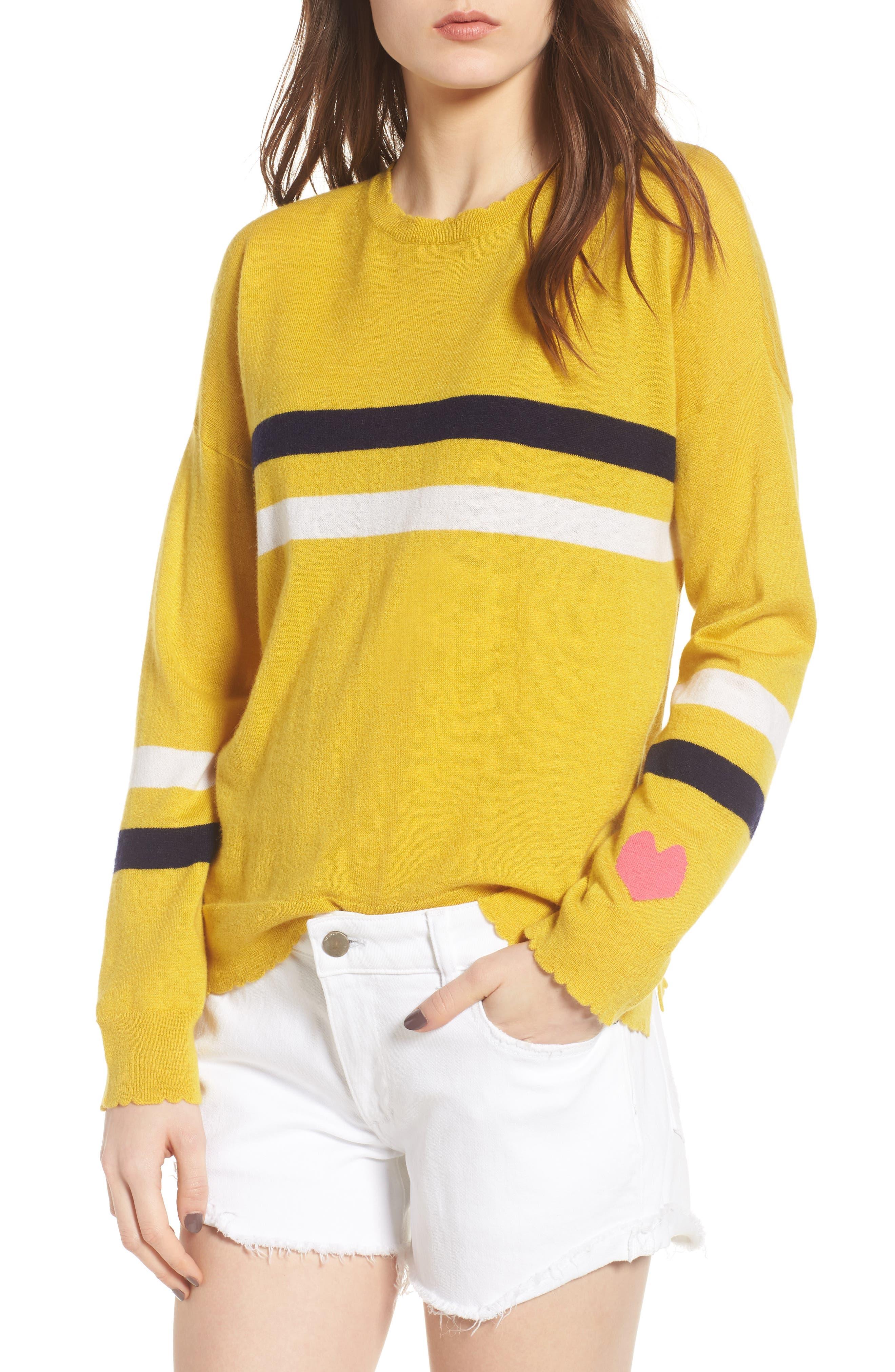 Sundry Stripe Wool & Cashmere Sweater