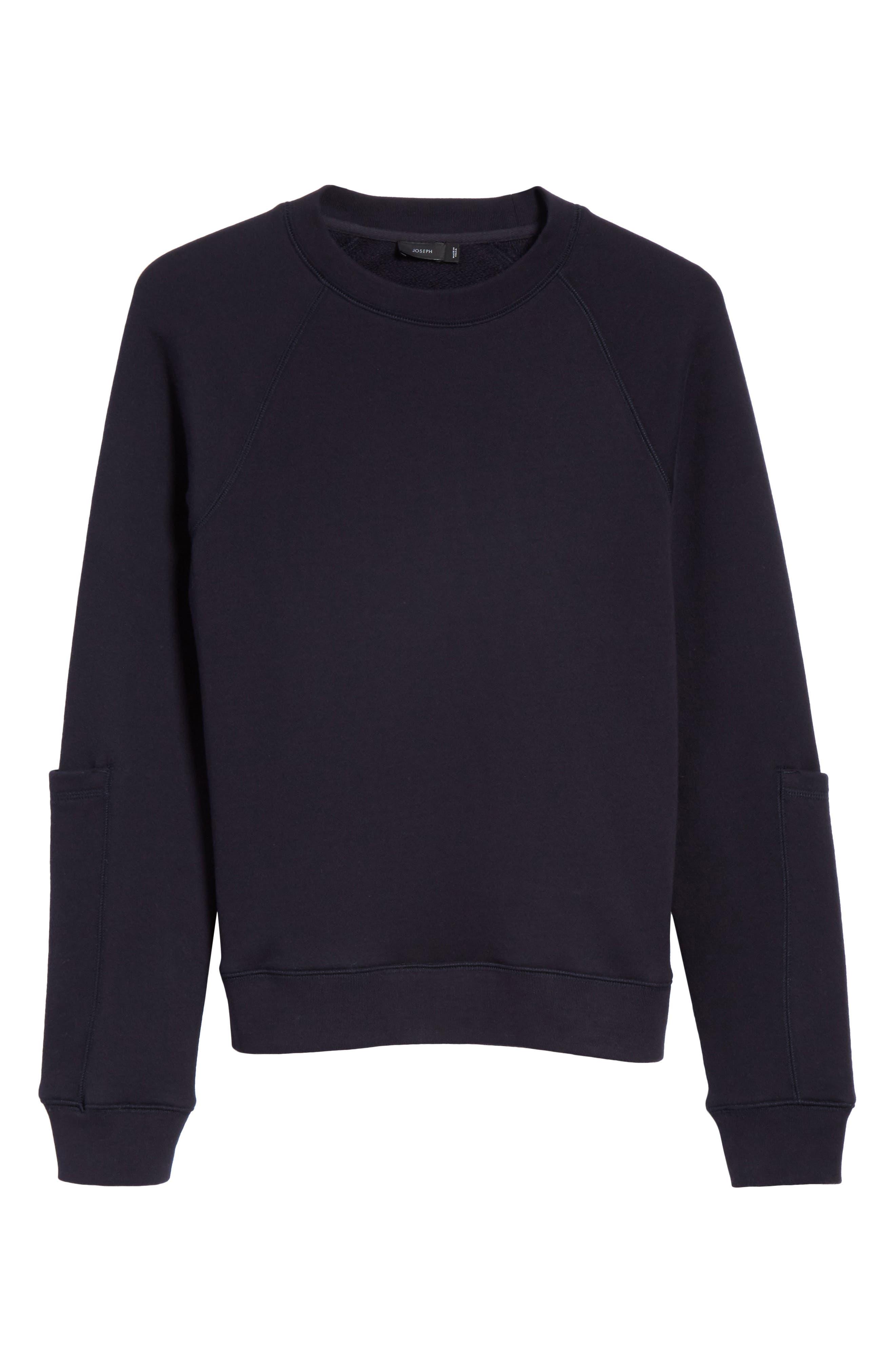 Pocket Sleeve Sweatshirt,                             Alternate thumbnail 6, color,                             Navy