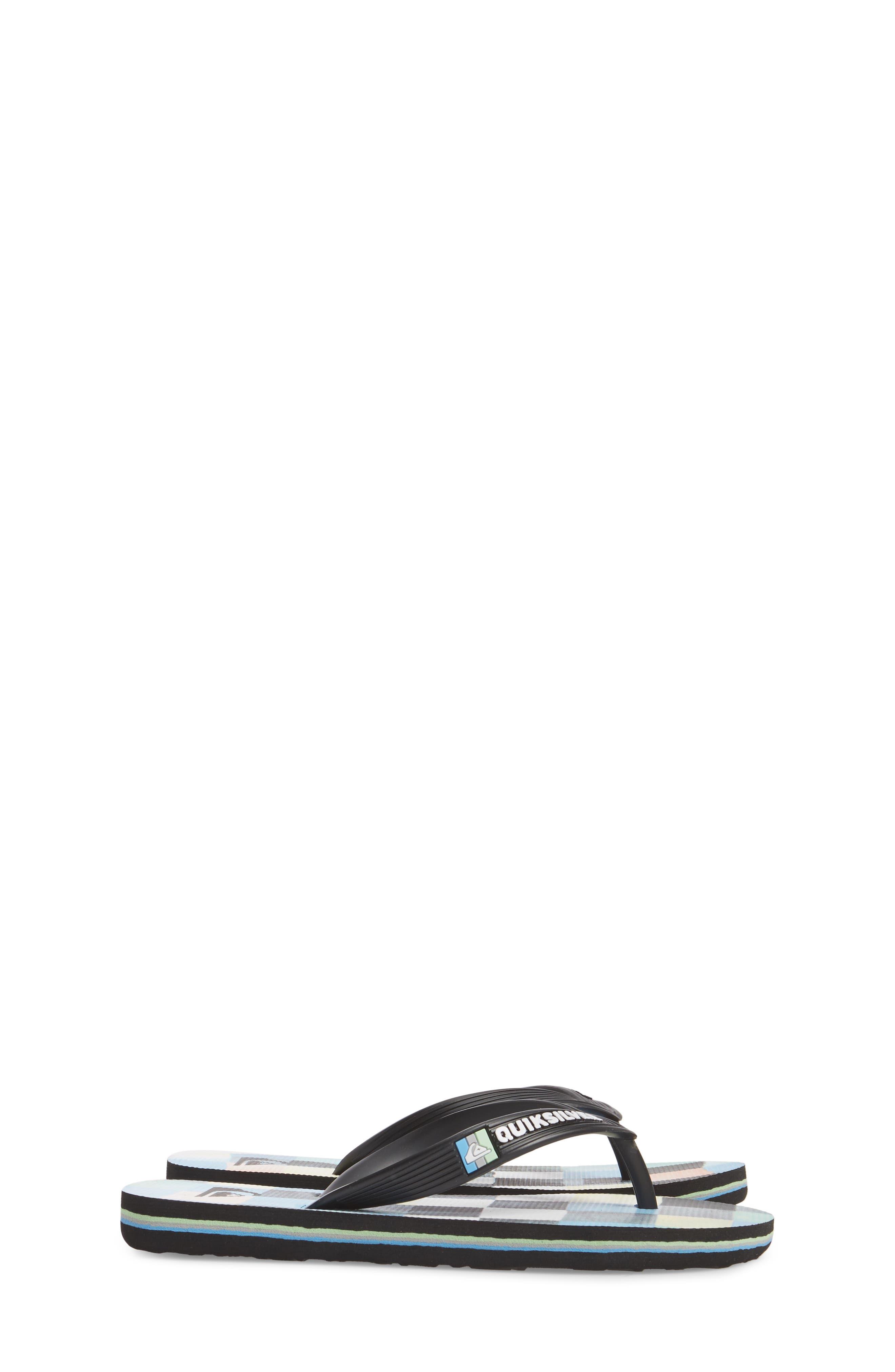 Molokai Resin Flip Flop,                             Alternate thumbnail 4, color,                             Black/ Blue/ Green