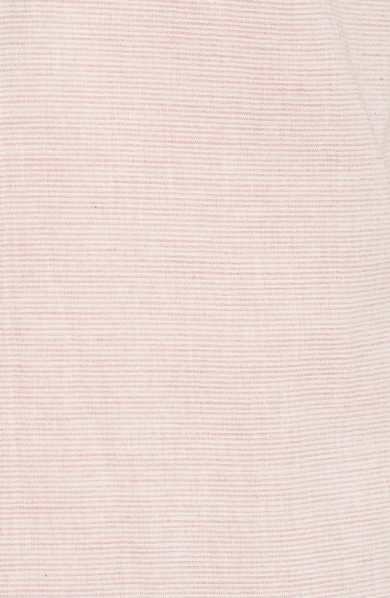 Naked & Famous Summer Gauze Mini Stripe Shirt,                             Alternate thumbnail 5, color,                             Red