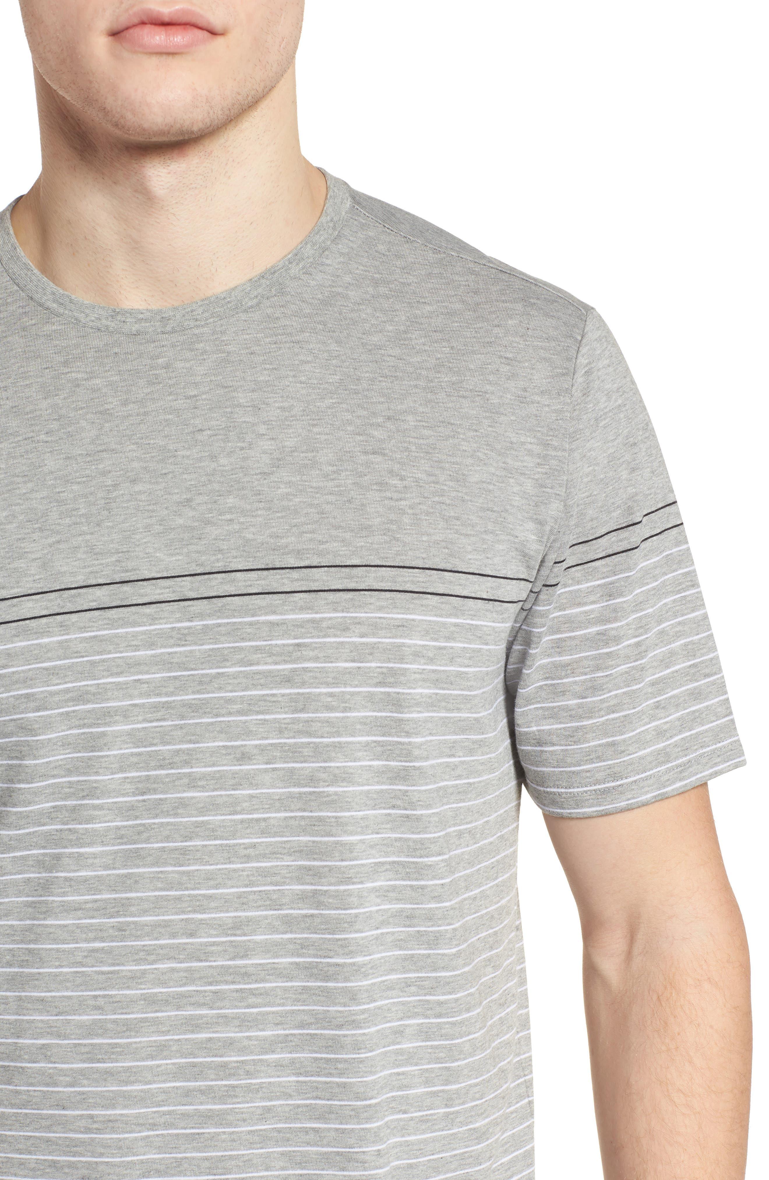 Dry Doheny Stripe T-Shirt,                             Alternate thumbnail 4, color,                             Dark Heather Grey