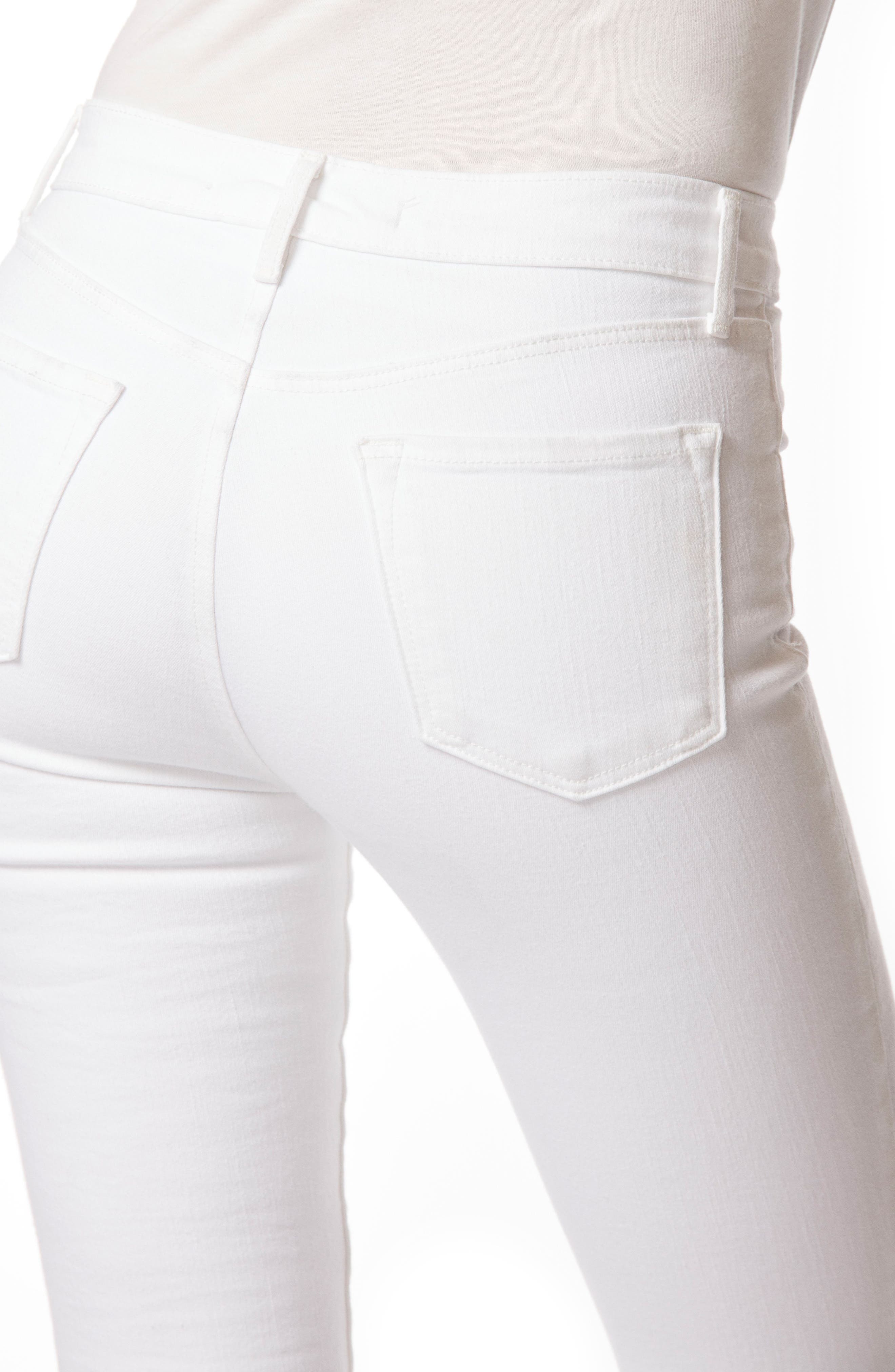 2311 Maria High Waist Super Skinny Jeans,                             Alternate thumbnail 5, color,                             Blanc
