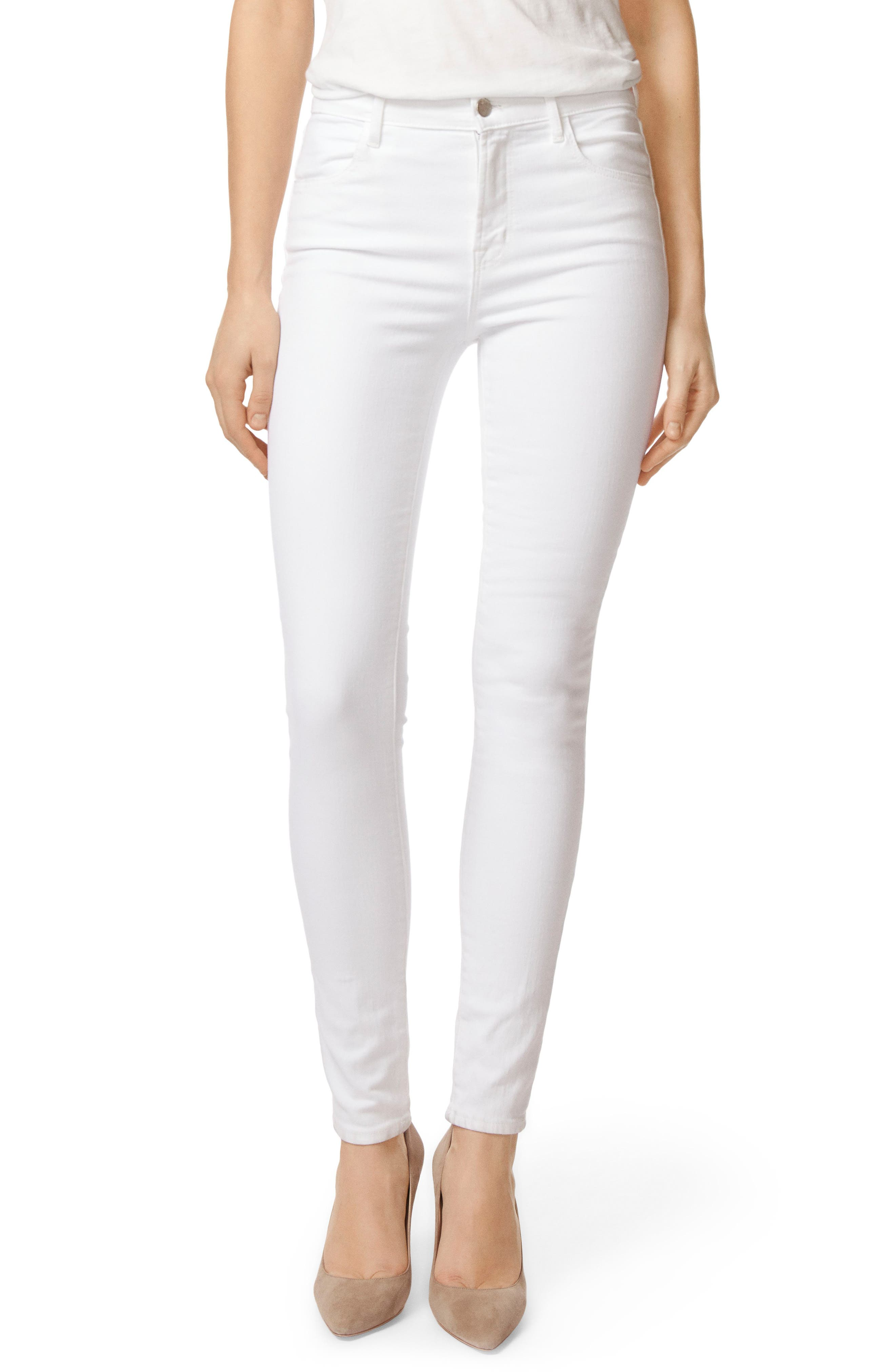 2311 Maria High Waist Super Skinny Jeans,                             Main thumbnail 1, color,                             Blanc