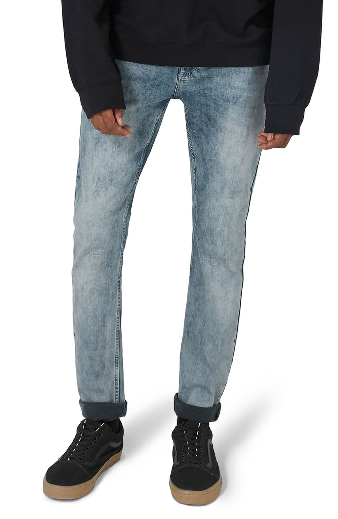 Stretch Skinny Fit Jeans,                         Main,                         color, Grey