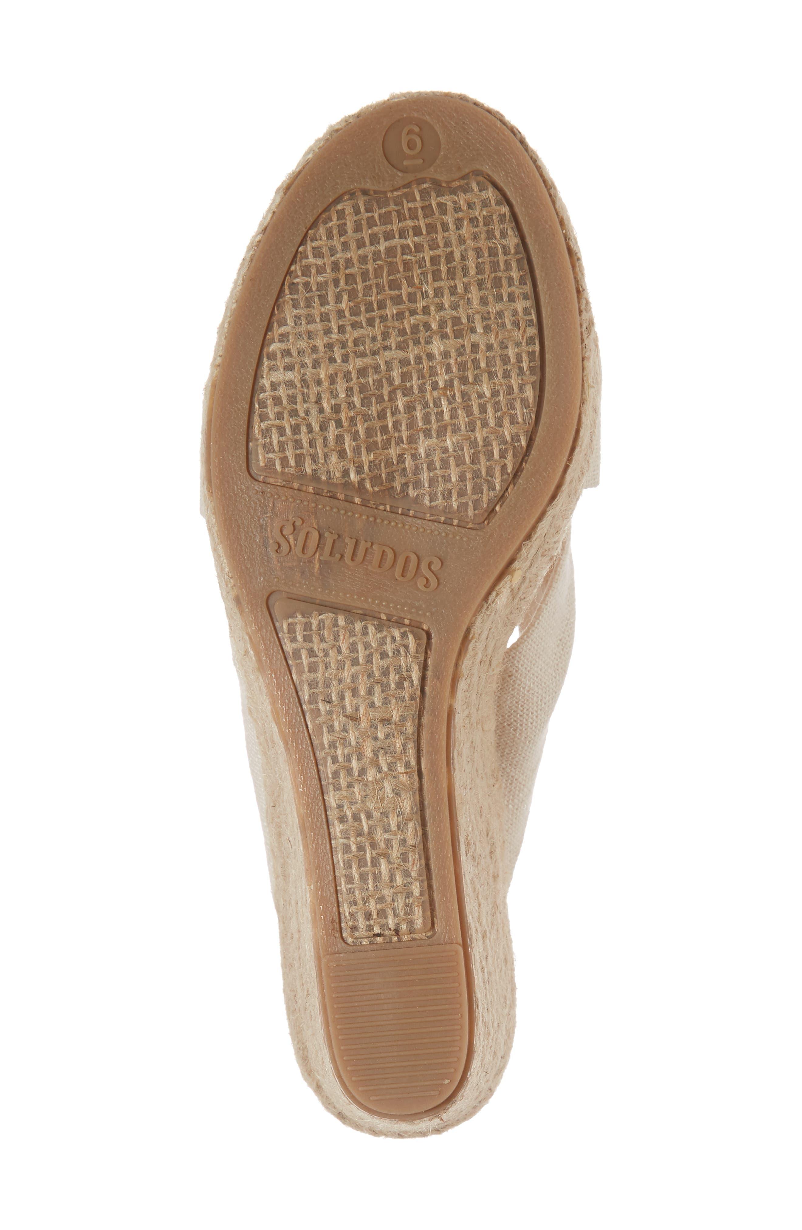 Espadrille Wedge Sandal,                             Alternate thumbnail 6, color,                             Blush