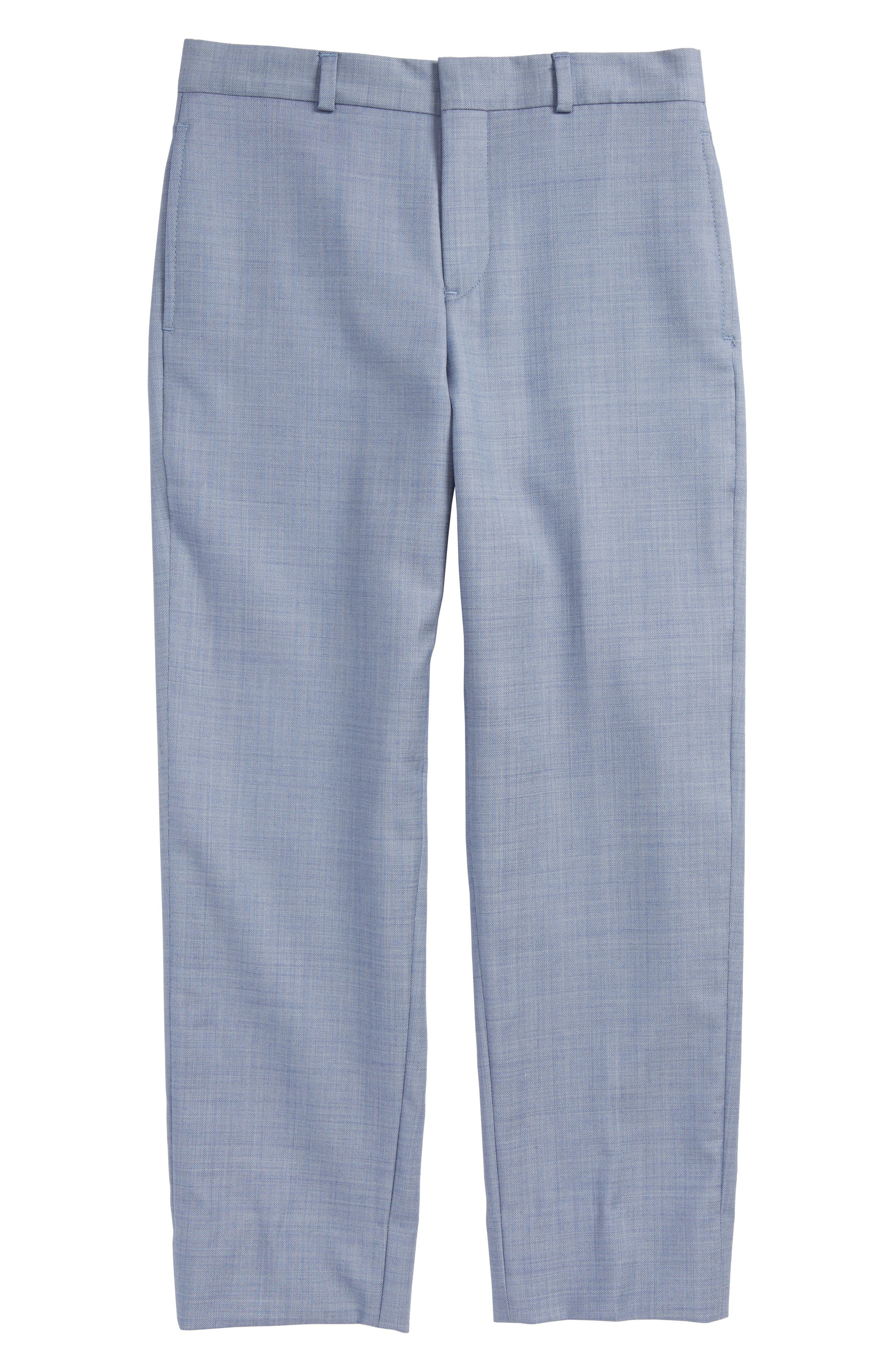 Alternate Image 1 Selected - JB Jr Flat Front Wool Trousers (Big Boys)