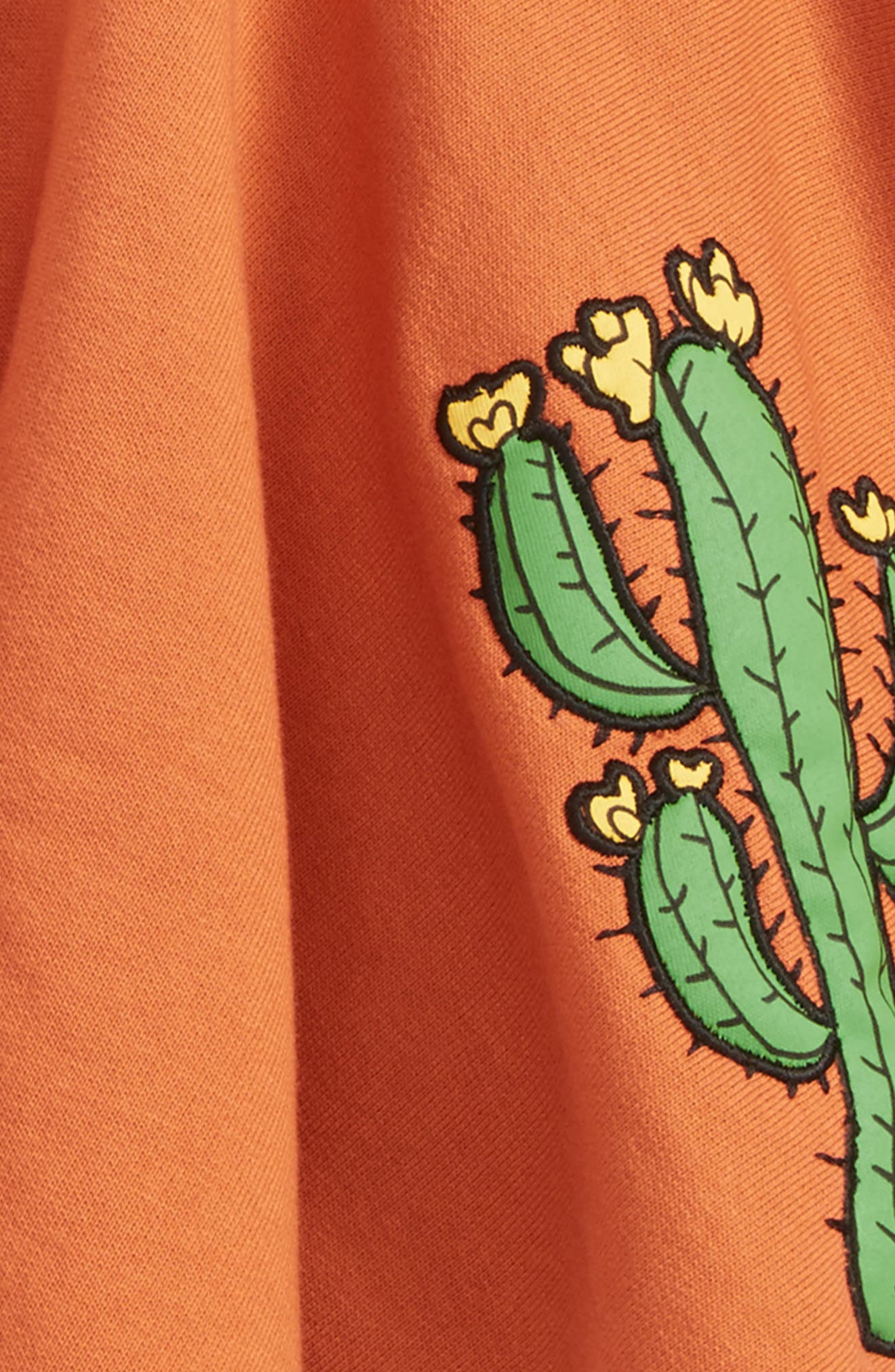 Appliqué Cactus Organic Cotton Circle Skirt,                             Alternate thumbnail 2, color,                             Orange