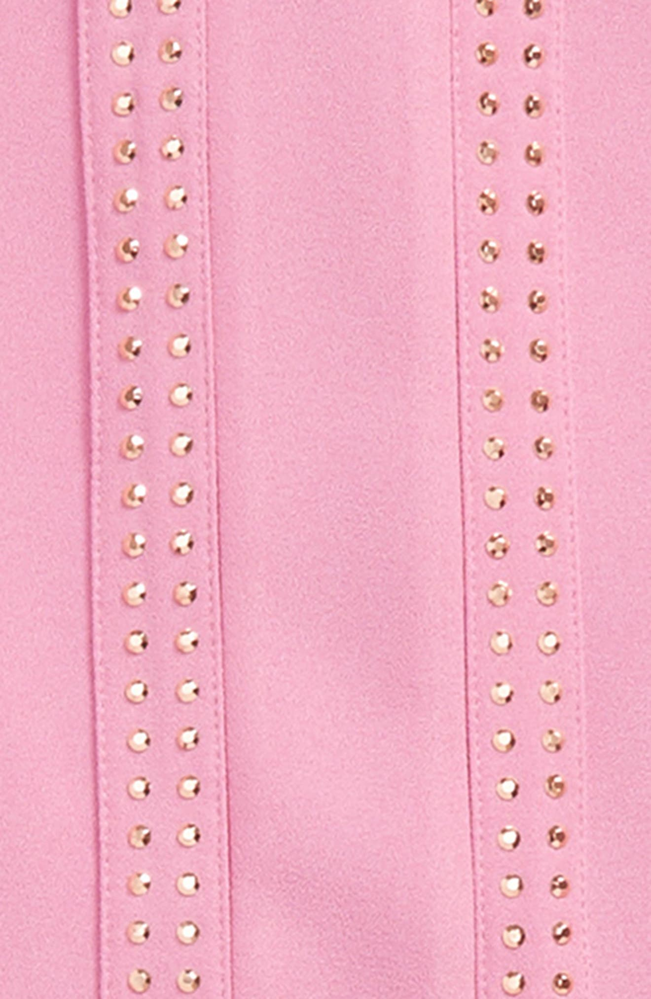 Embellished Crepe High/Low Dress,                             Alternate thumbnail 2, color,                             Candy Orchid