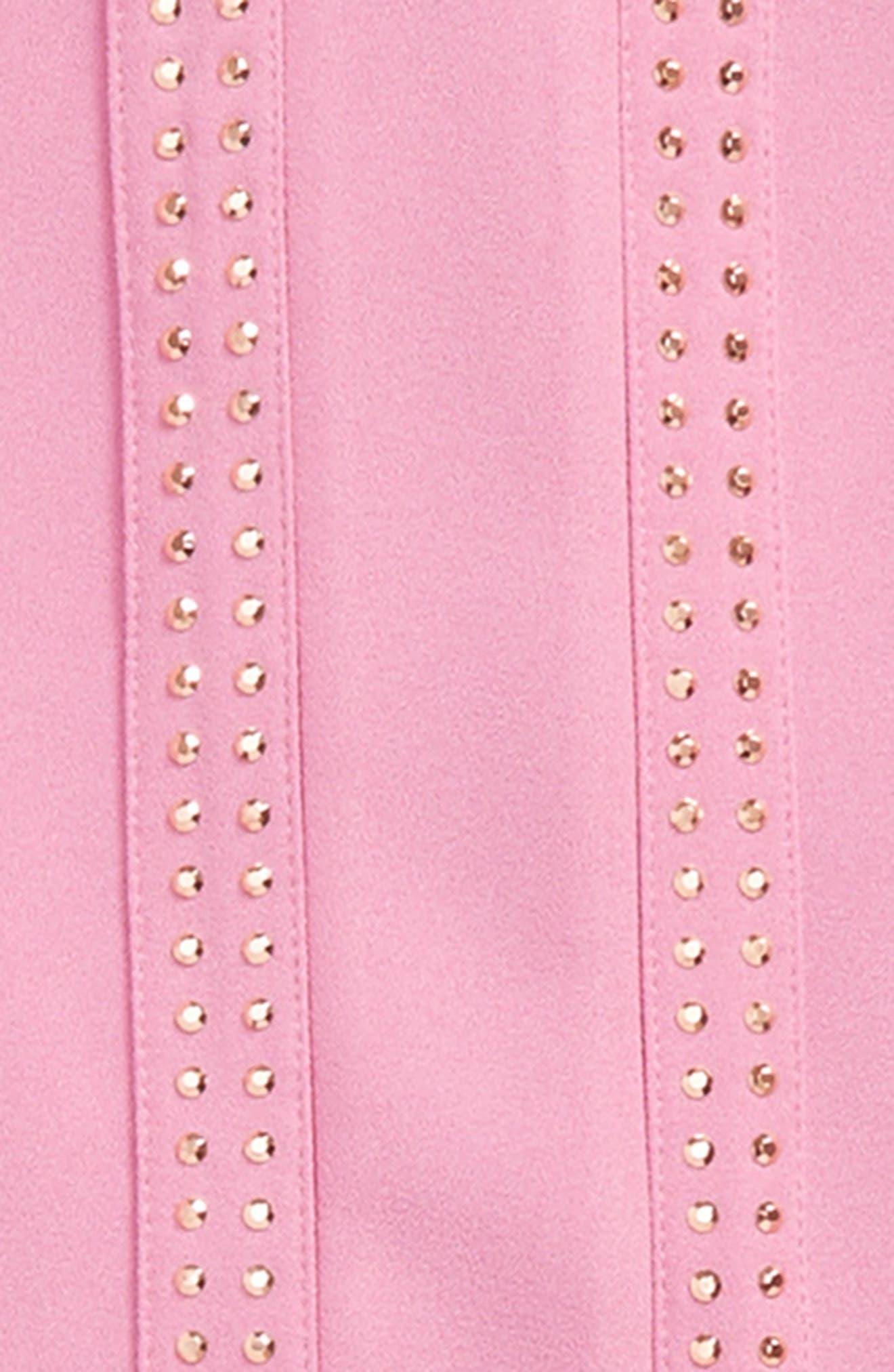 Alternate Image 2  - Marciano Embellished Crepe High/Low Dress (Big Girls)