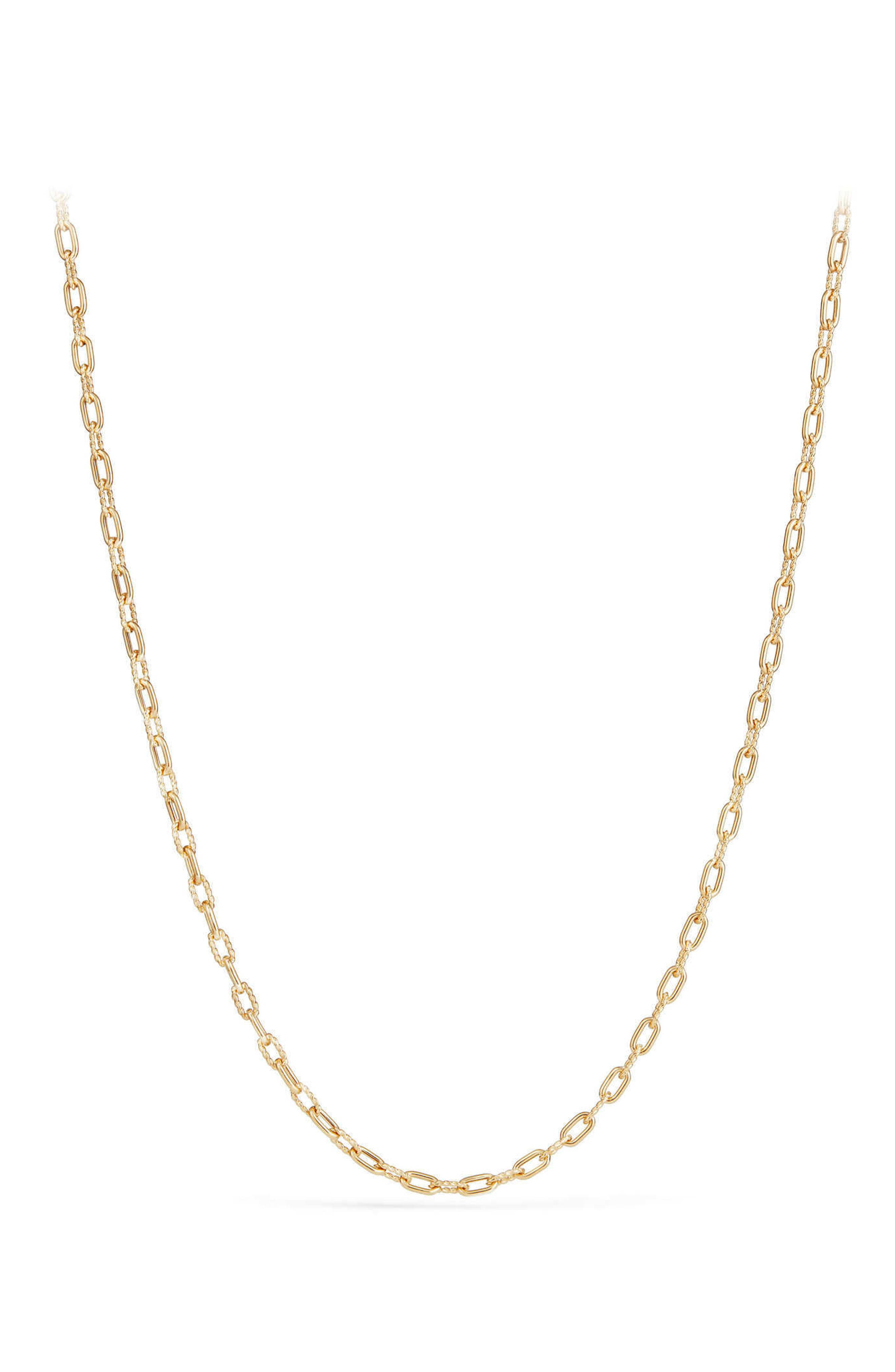 DY Madison Thin Chain Necklace in 18K Gold,                         Main,                         color, Gold