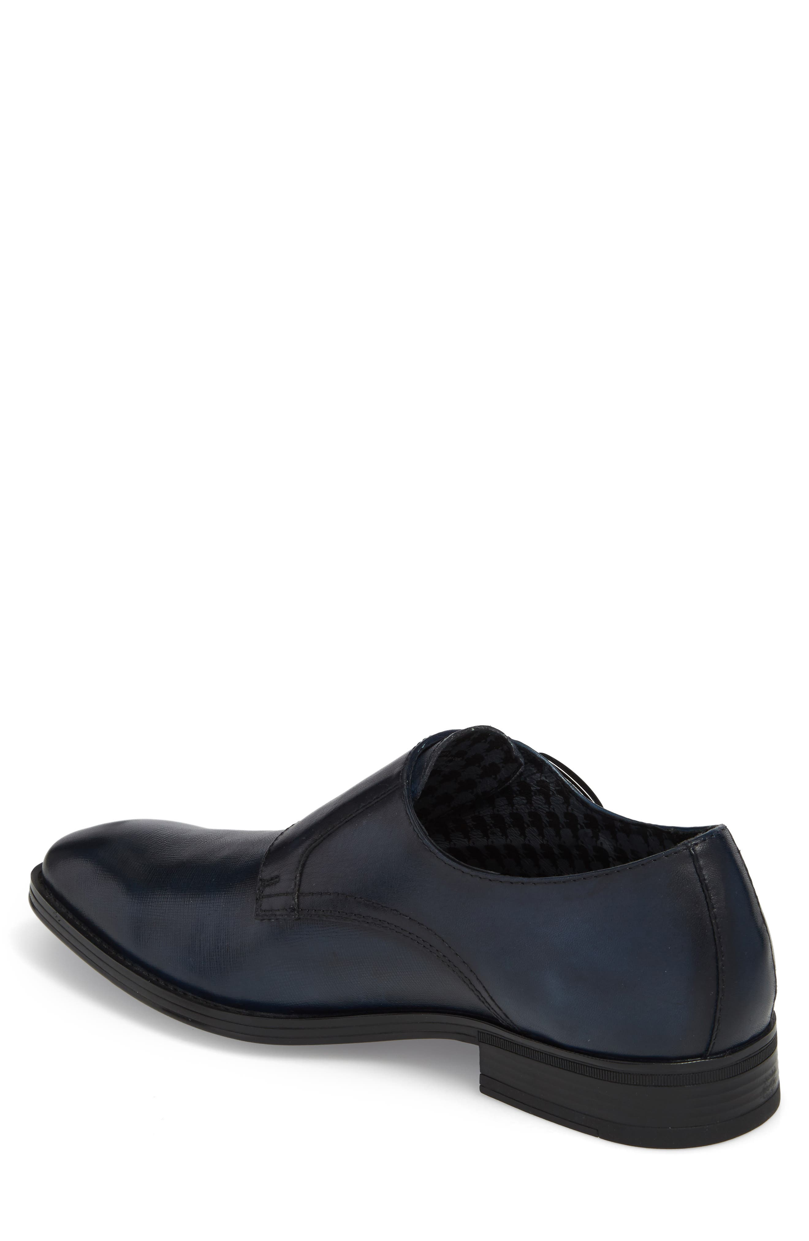 Karl Lagerfeld Double Strap Monk Shoe,                             Alternate thumbnail 2, color,                             Navy