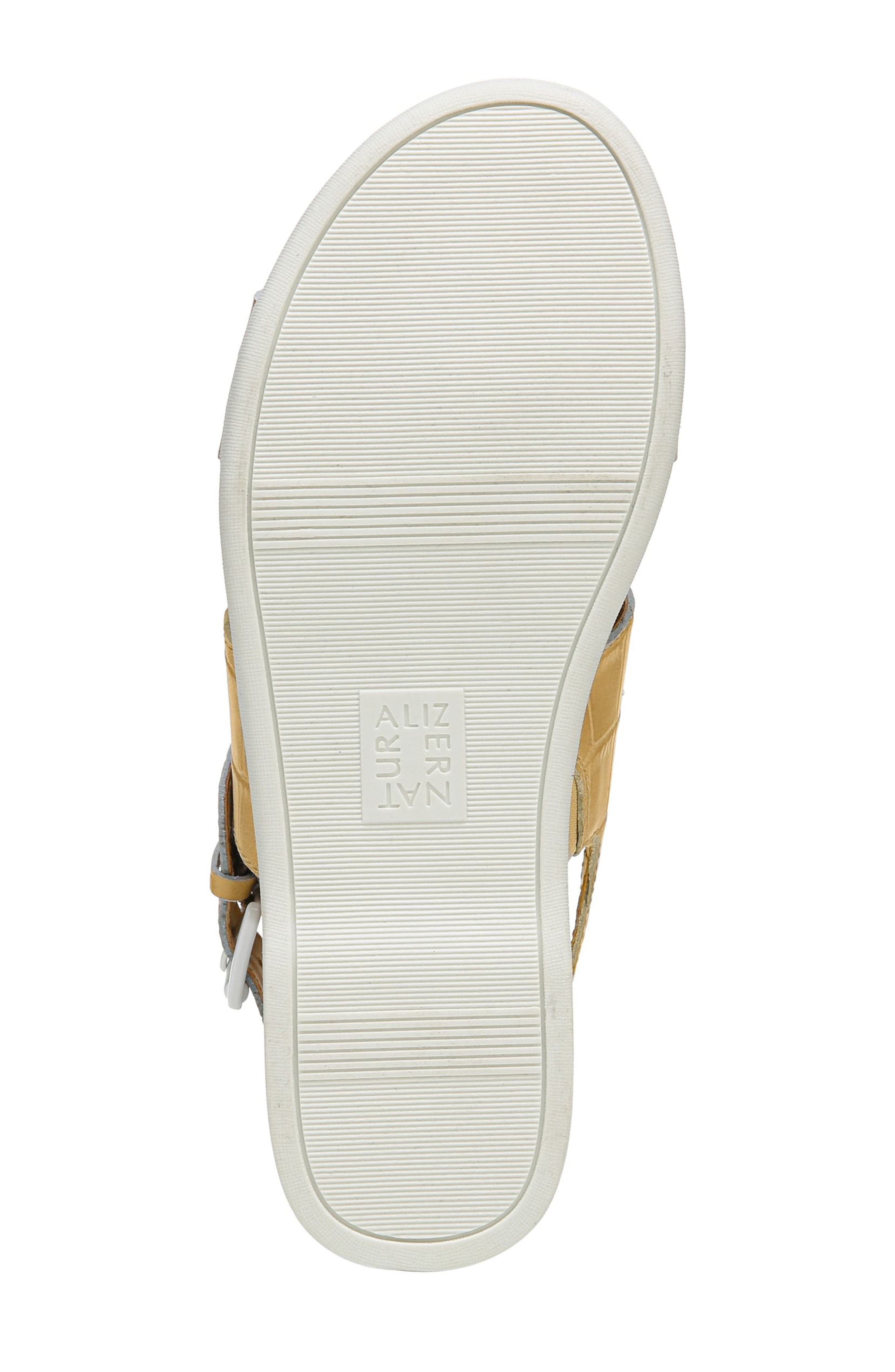 Emory Wedge Sandal,                             Alternate thumbnail 6, color,                             Yellow Printed Leather