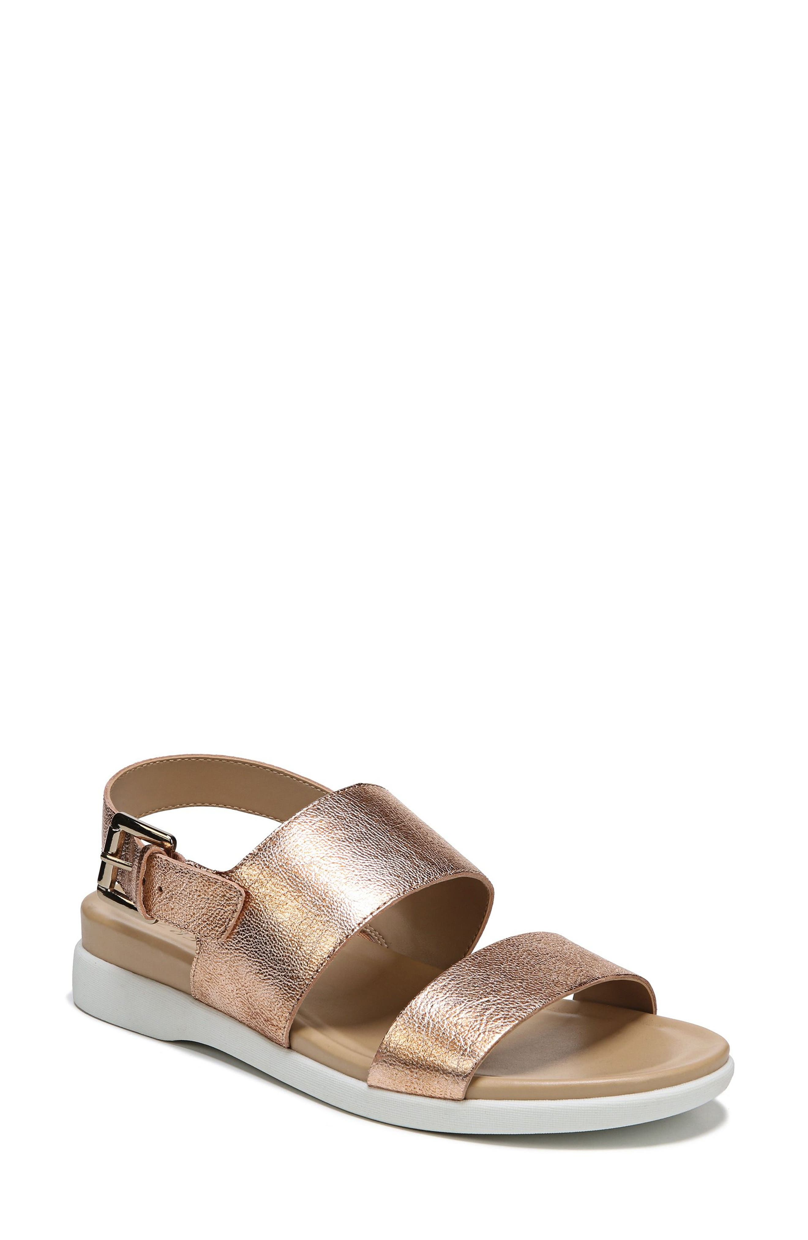 Emory Wedge Sandal,                         Main,                         color, Copper Leather