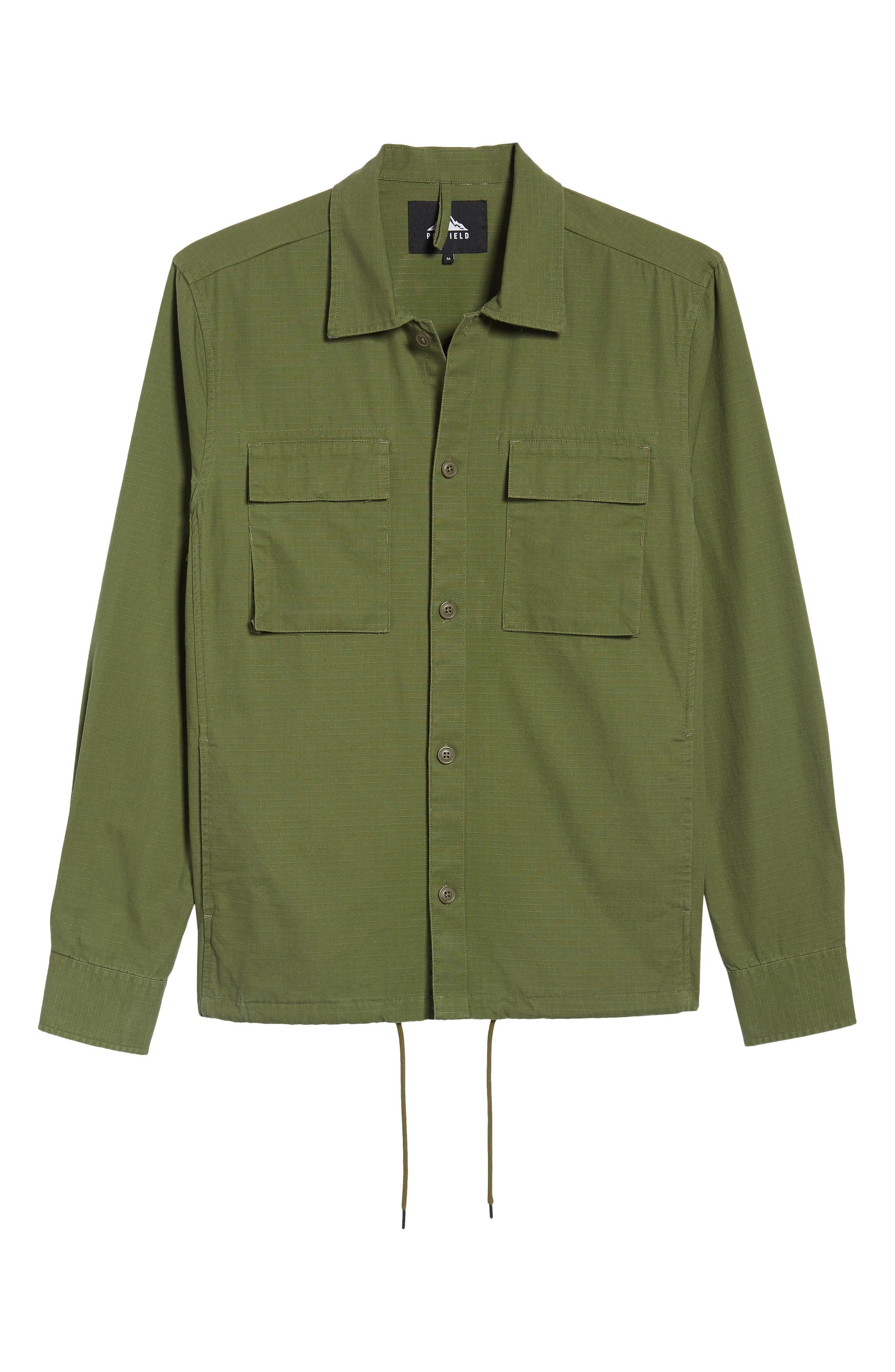 Oakledge Ripstop Shirt Jacket,                             Alternate thumbnail 6, color,                             Olive