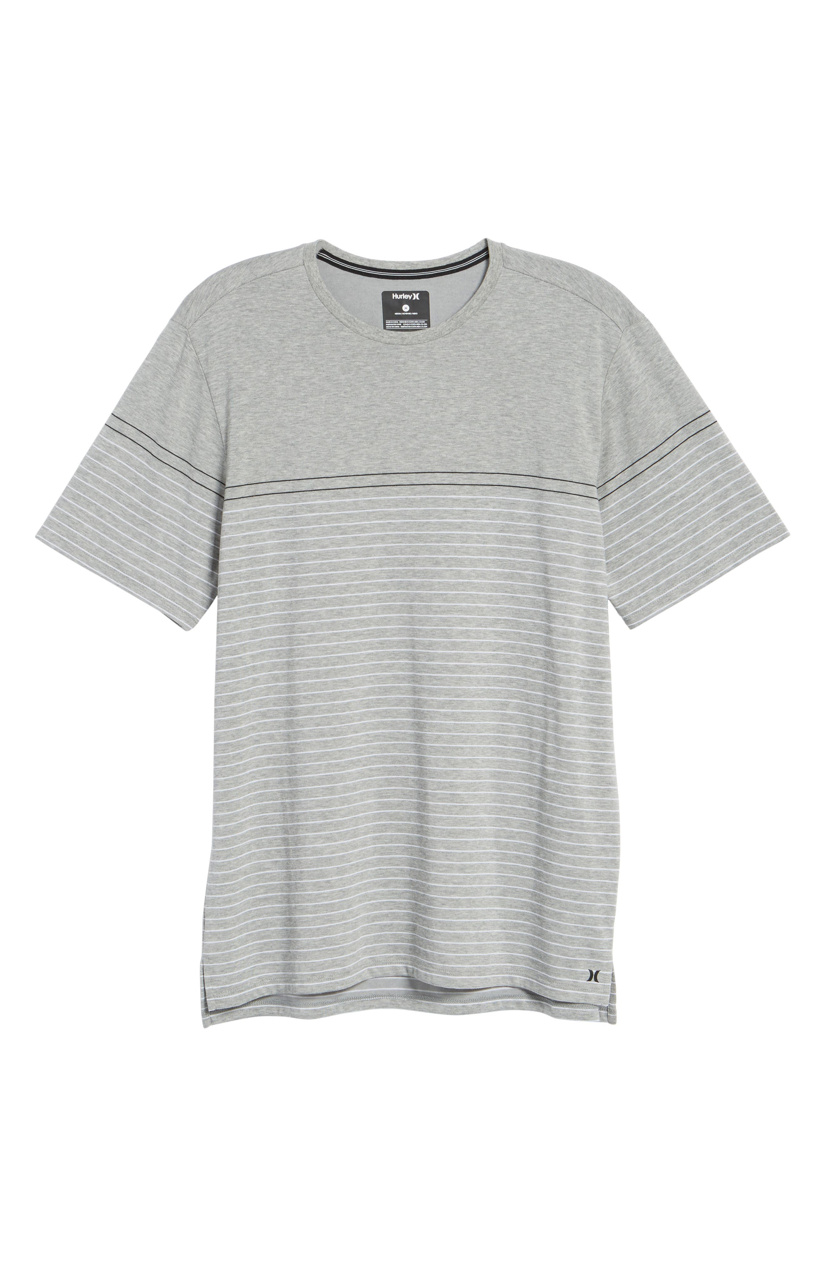 Dry Doheny Stripe T-Shirt,                             Alternate thumbnail 6, color,                             Dark Heather Grey