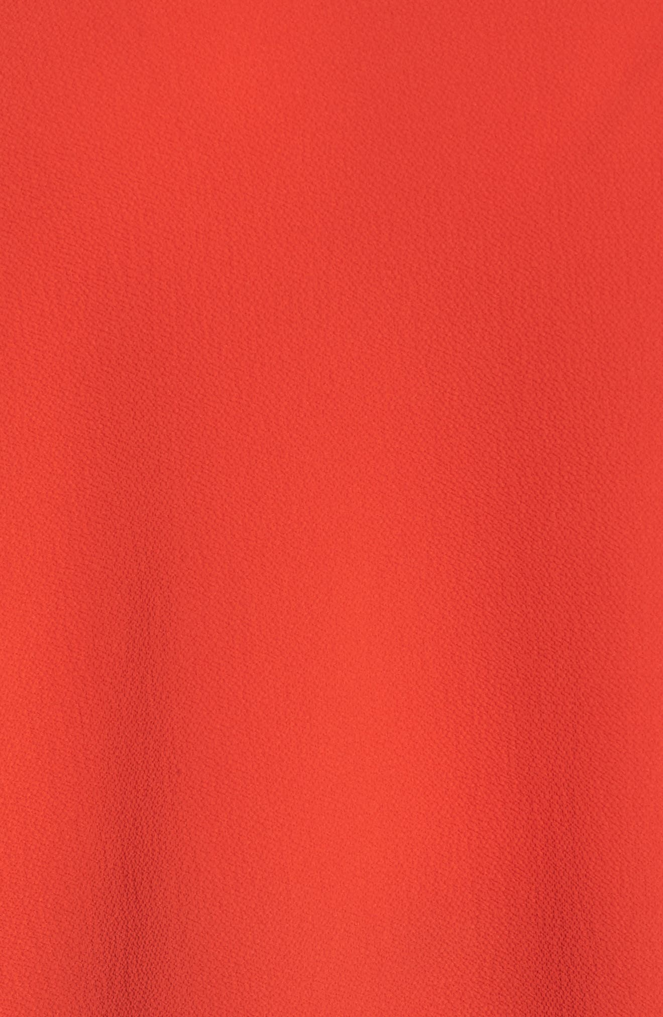 Tiered Ruffle Sleeve Top,                             Alternate thumbnail 5, color,                             Geranium