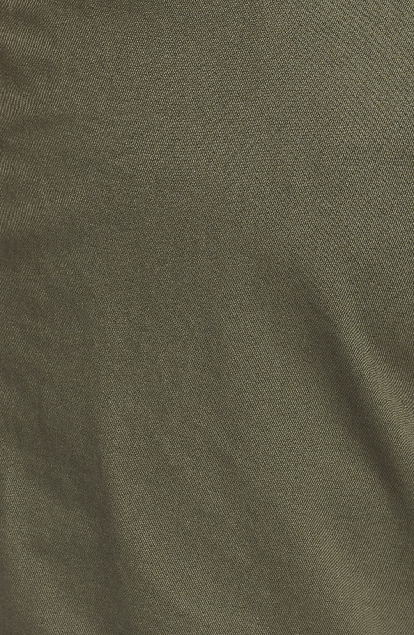 Belted Twill Shorts,                             Alternate thumbnail 6, color,                             Olive Sarma