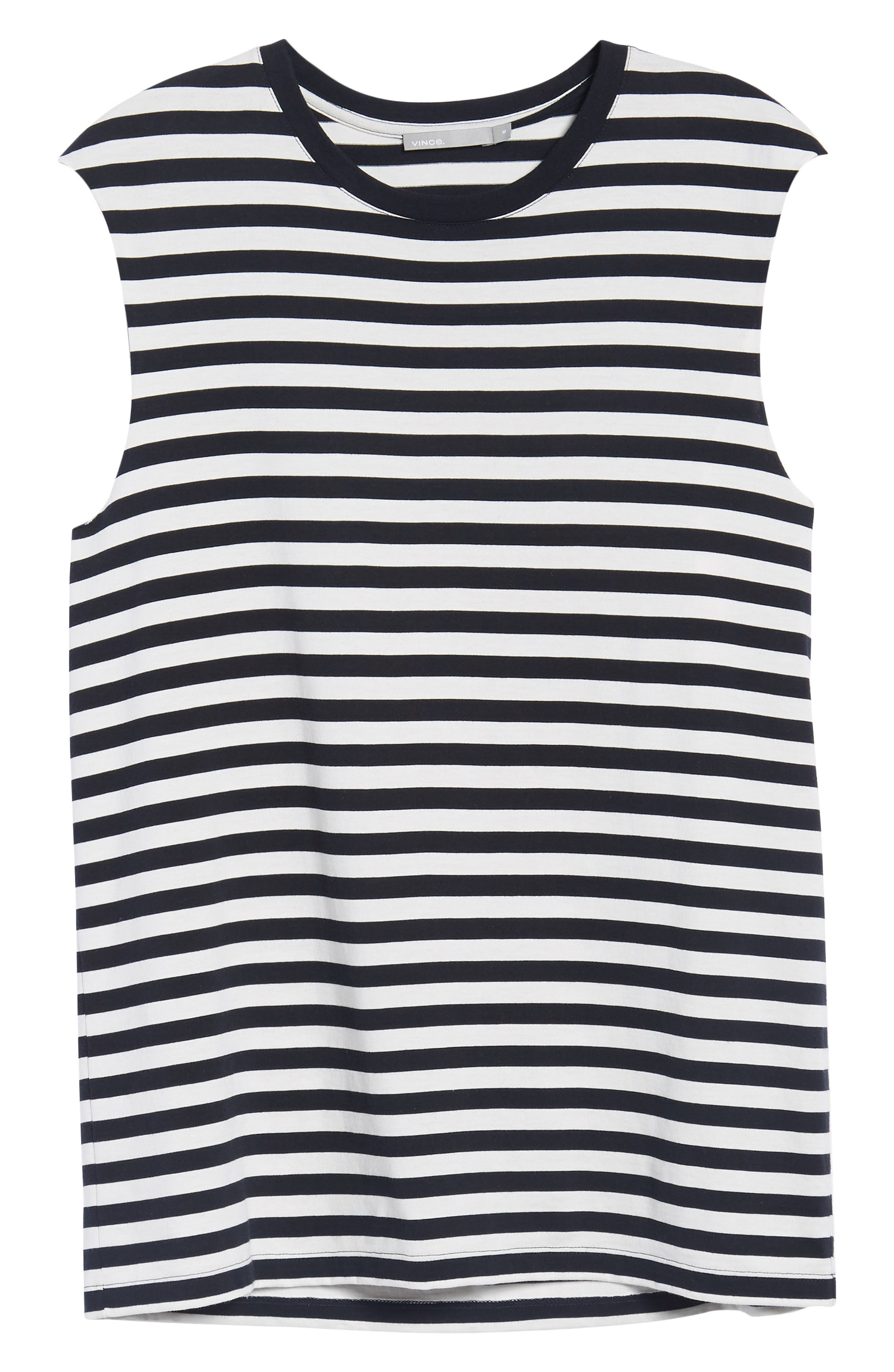 Slim Fit Stripe Tank,                             Alternate thumbnail 6, color,                             New Coastal/ Leche