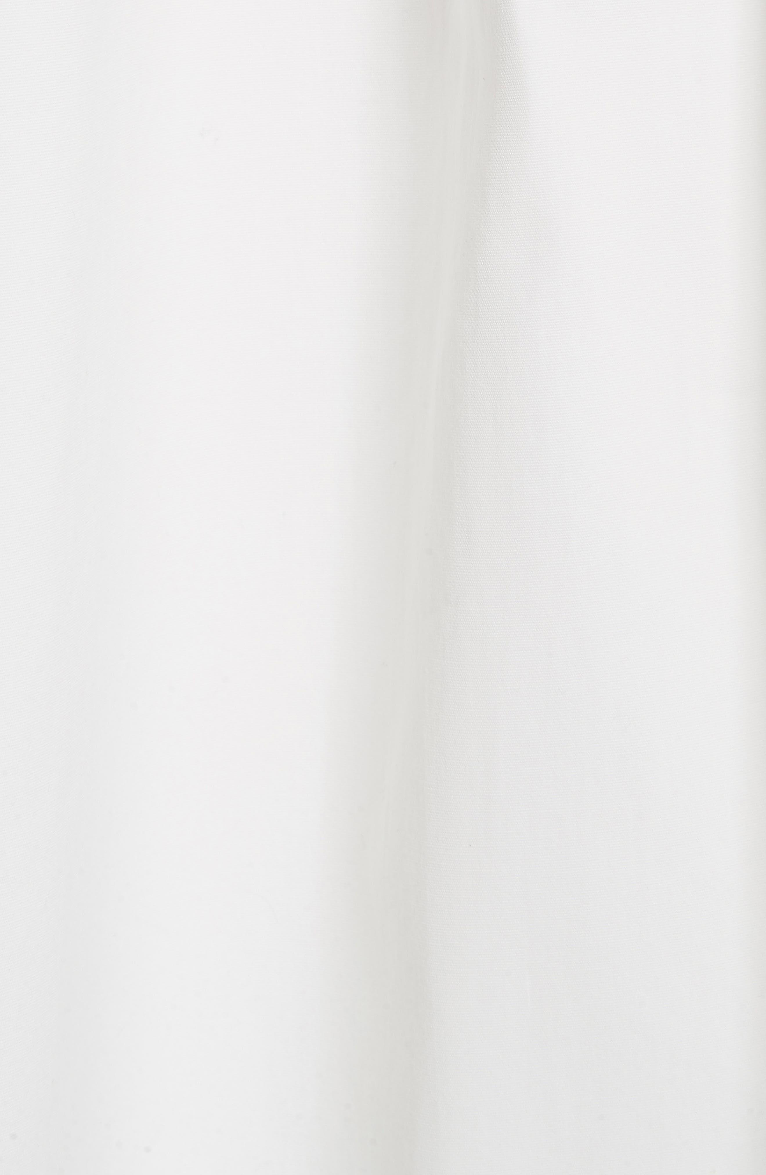 Lace Up Front Poplin Dress,                             Alternate thumbnail 5, color,                             Blanc Antique