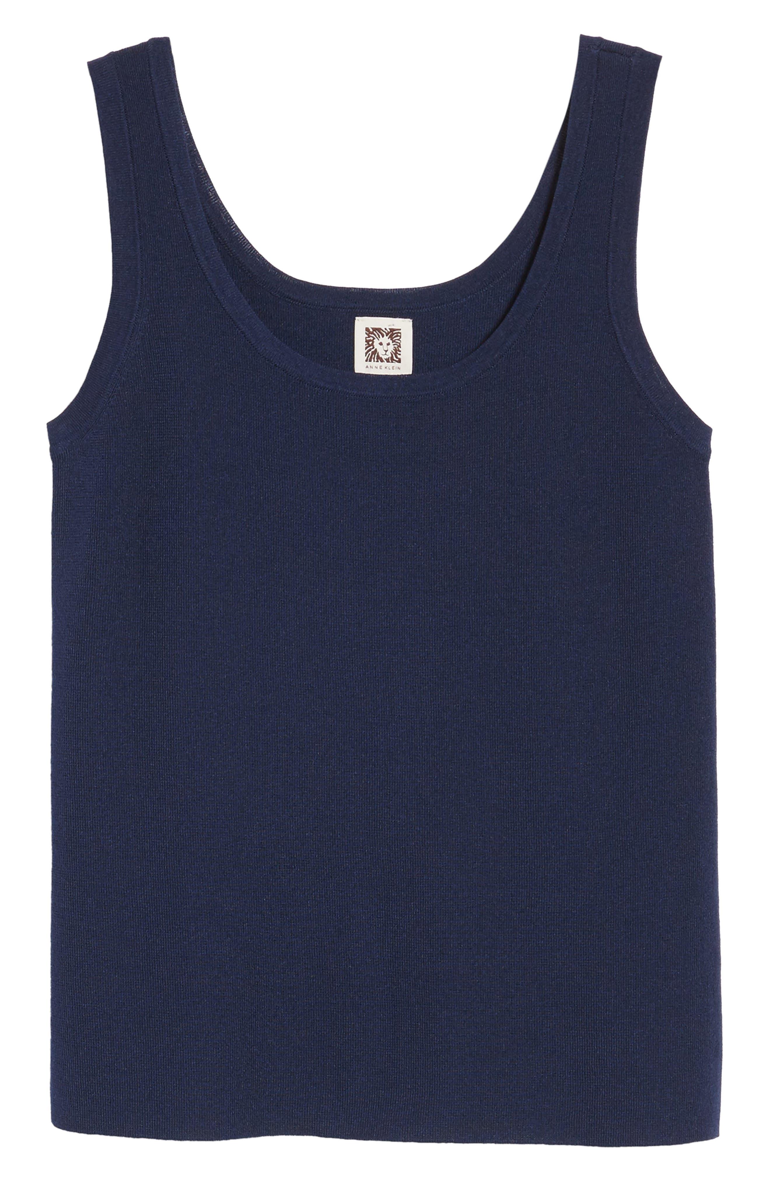 Sleeveless Knit Tank,                             Alternate thumbnail 7, color,                             Breton Blue