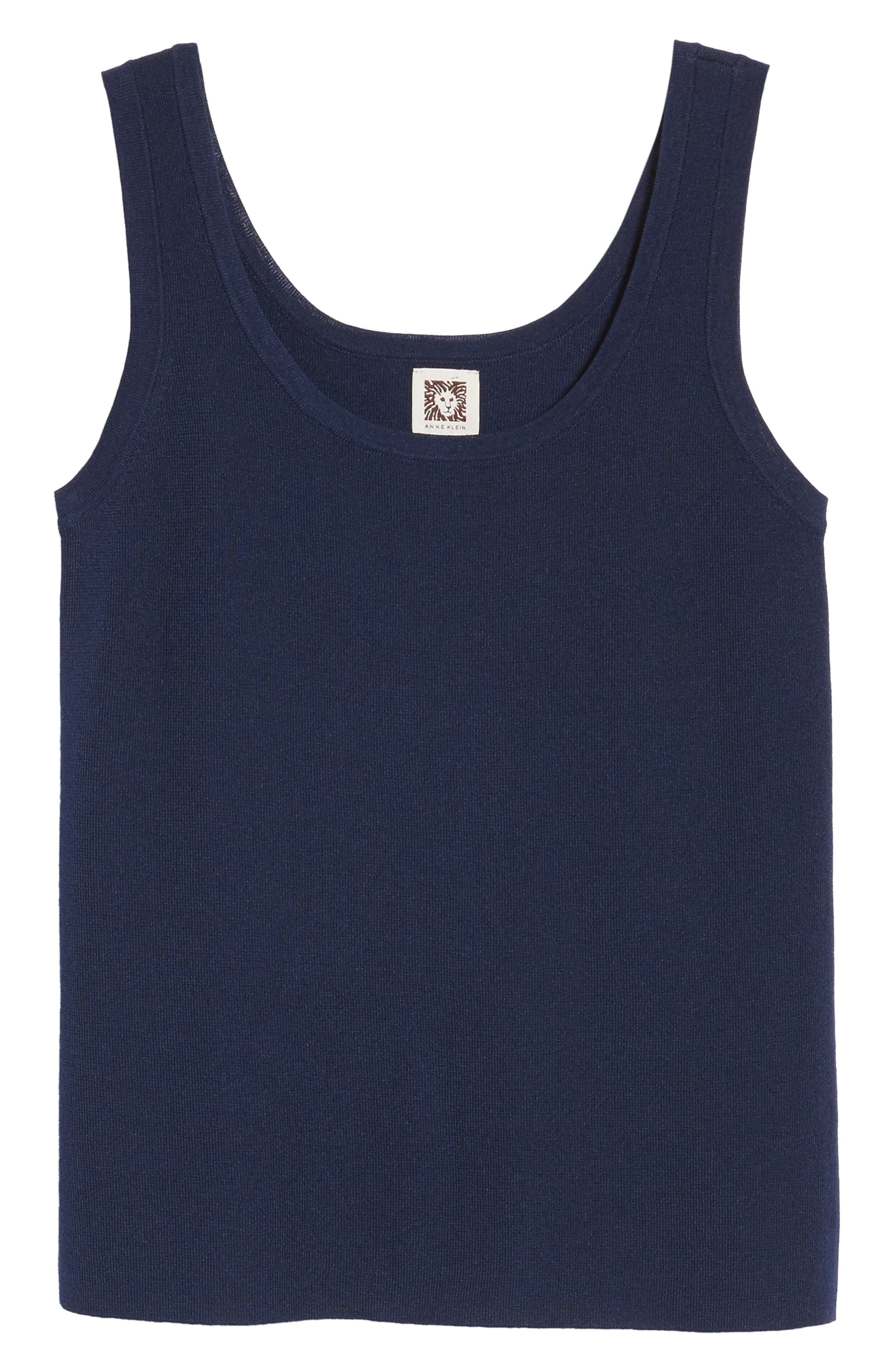 New York Sleeveless Knit Tank,                             Alternate thumbnail 7, color,                             Breton Blue