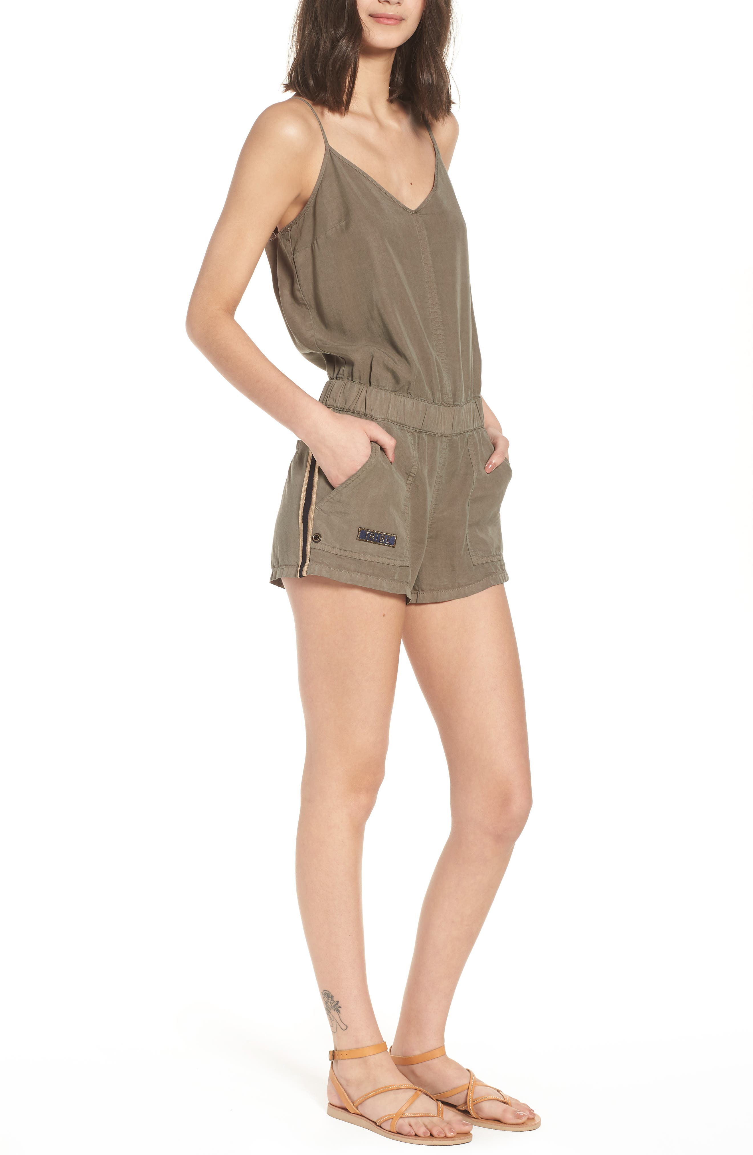 Lace Up Romper by Pam & Gela