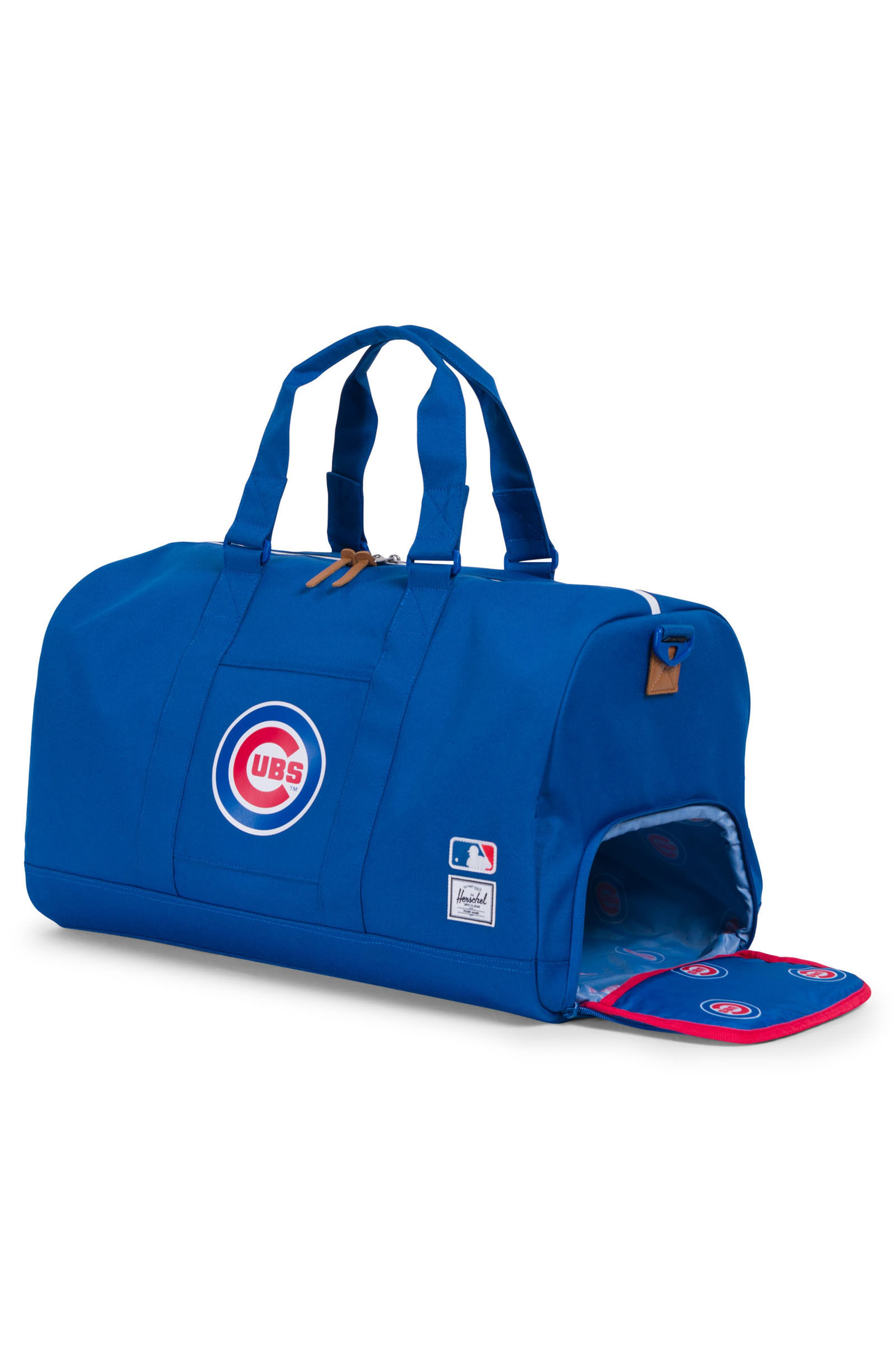Novel - MLB National League Duffel Bag,                             Alternate thumbnail 3, color,                             Chicago Cubs