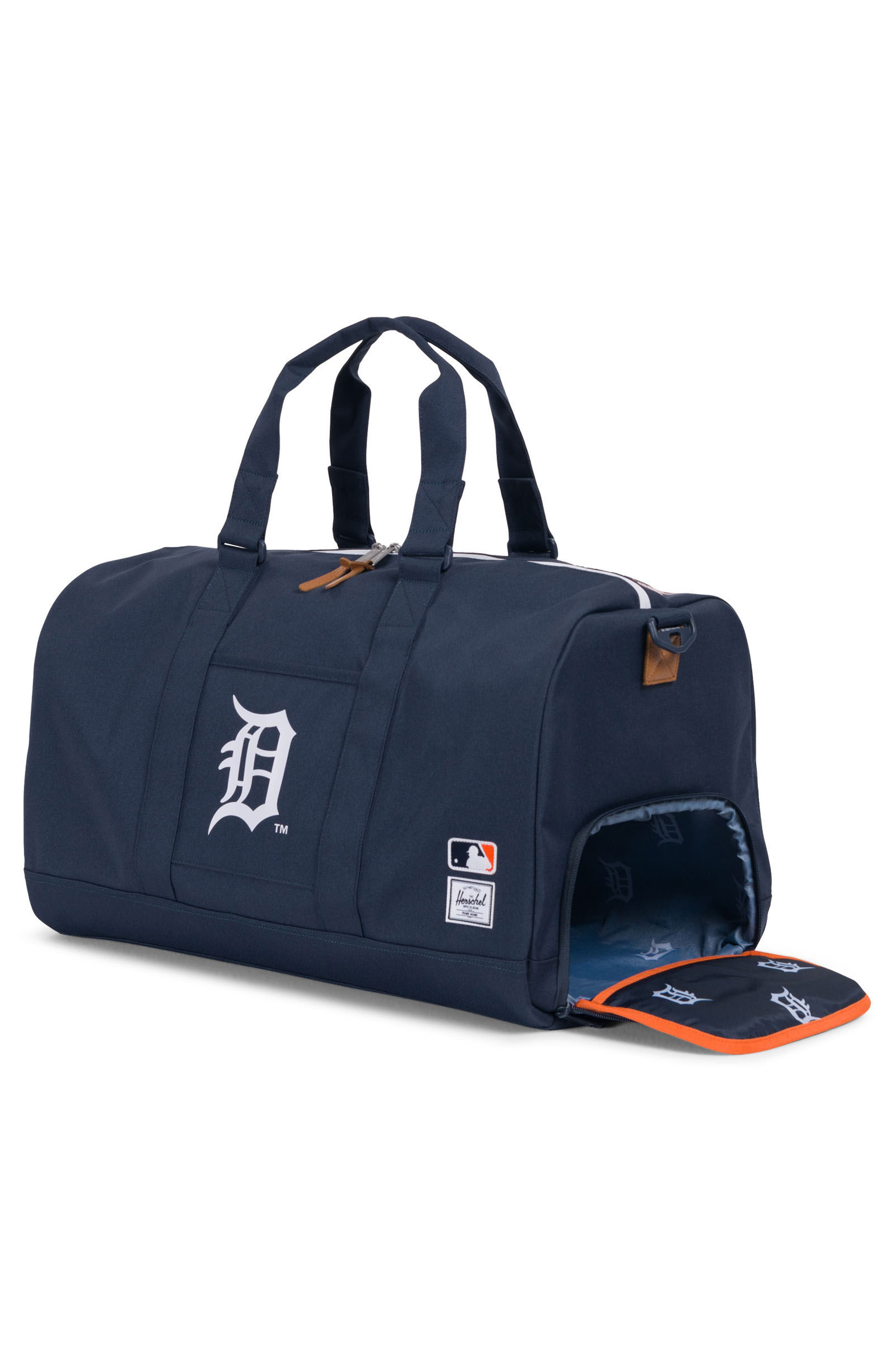 Novel - MLB American League Duffel Bag,                             Alternate thumbnail 3, color,                             Detroit Tigers