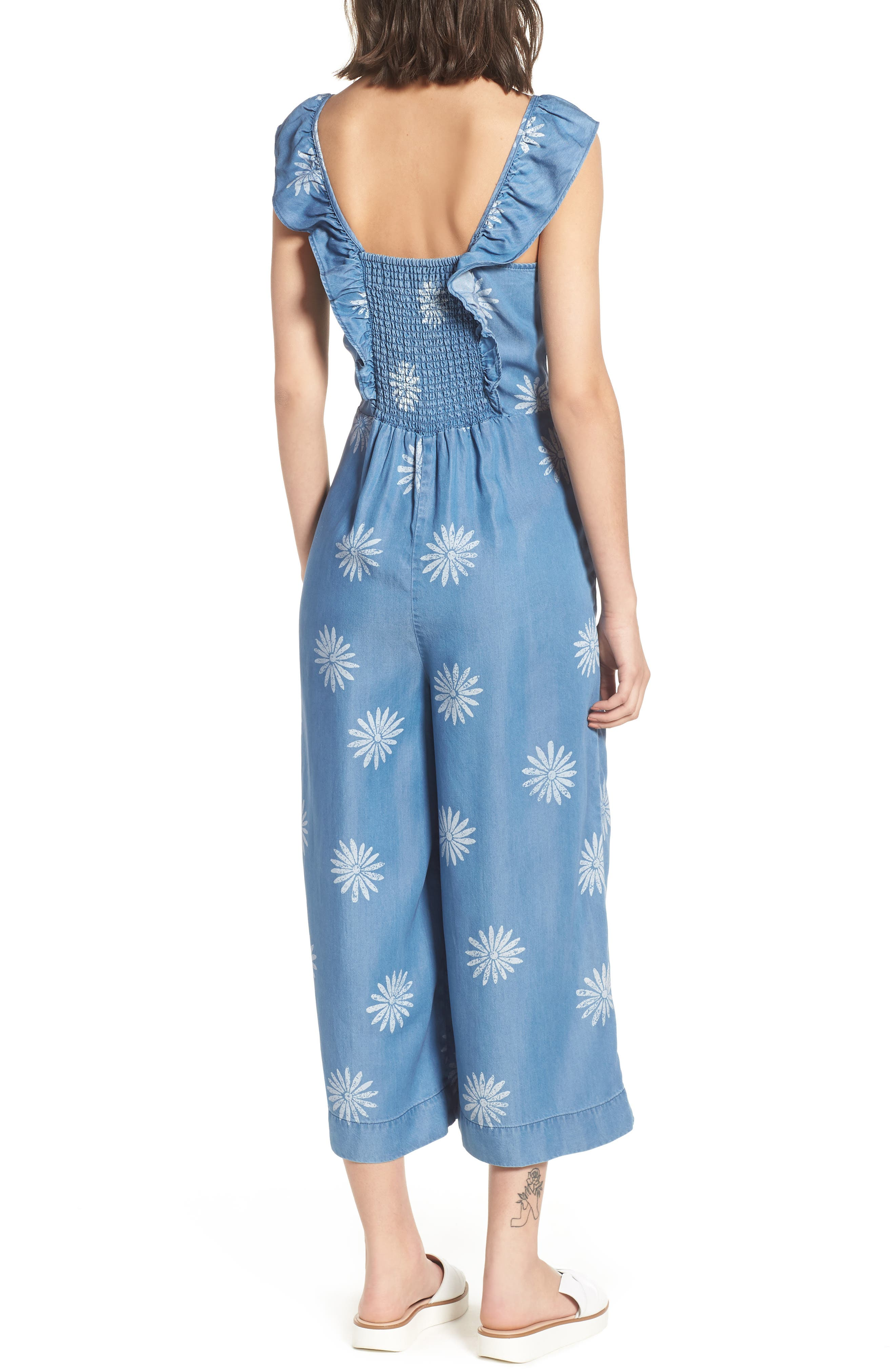 x Margherita Dolce Daisy Jumpsuit,                             Alternate thumbnail 3, color,                             Med Wash