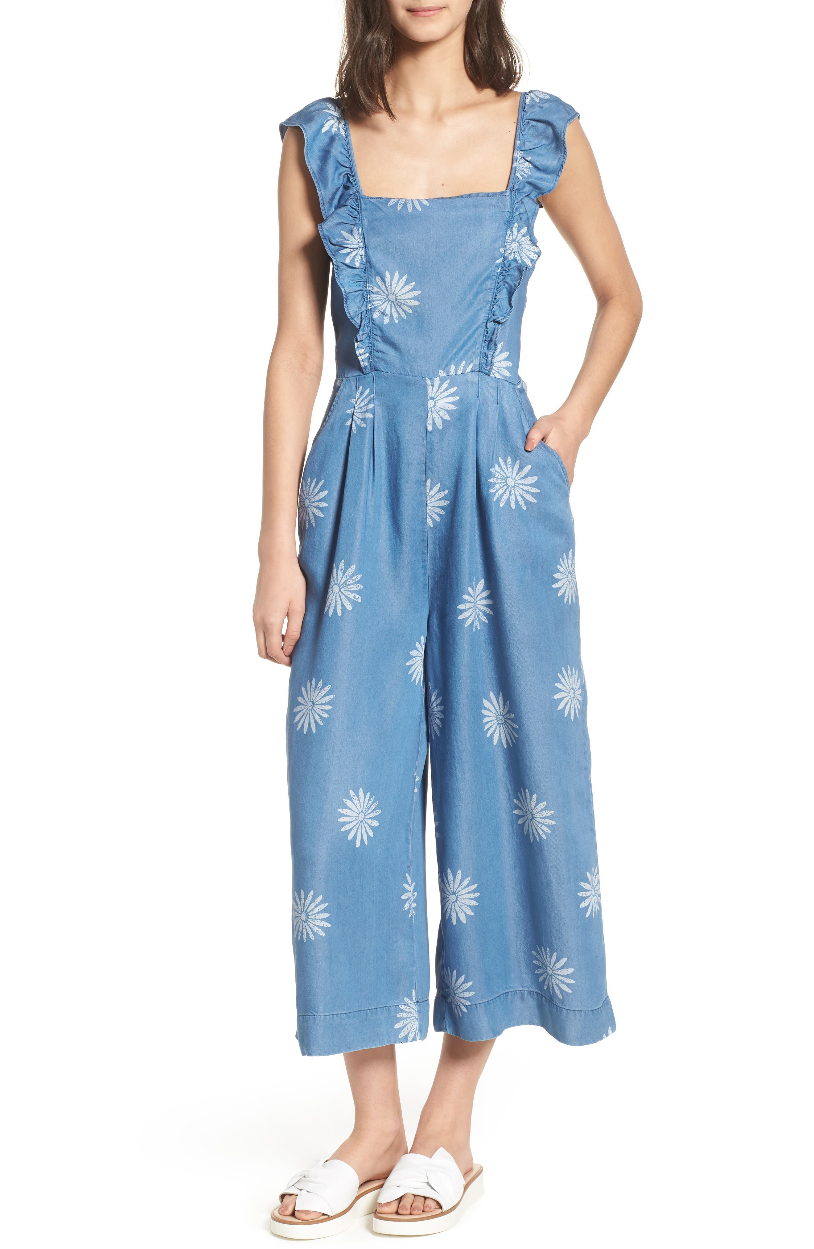 x Margherita Dolce Daisy Jumpsuit,                             Main thumbnail 1, color,                             Med Wash