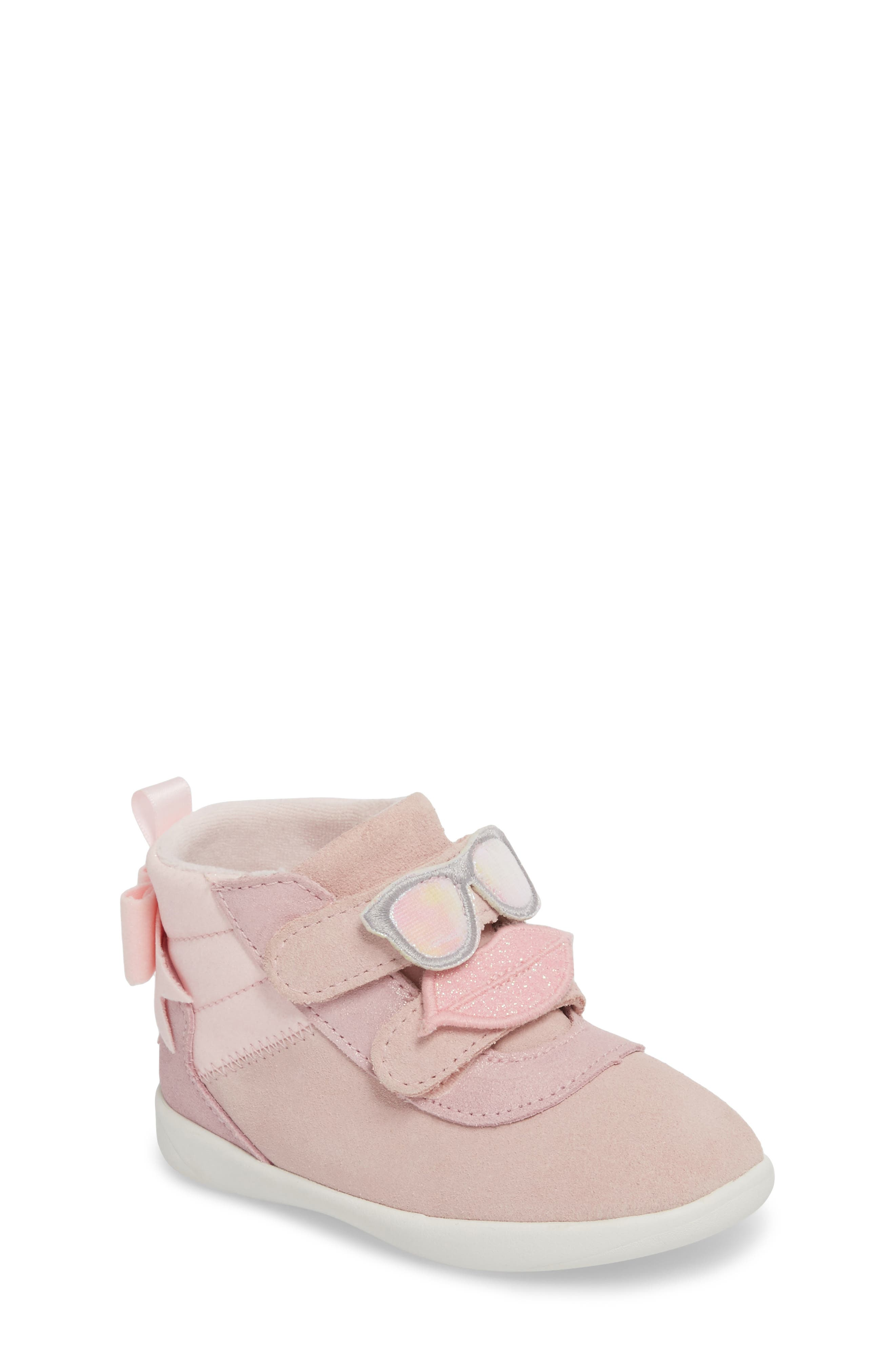 Livv Sunglass Appliqué Sneaker,                             Main thumbnail 1, color,                             Seashell Pink