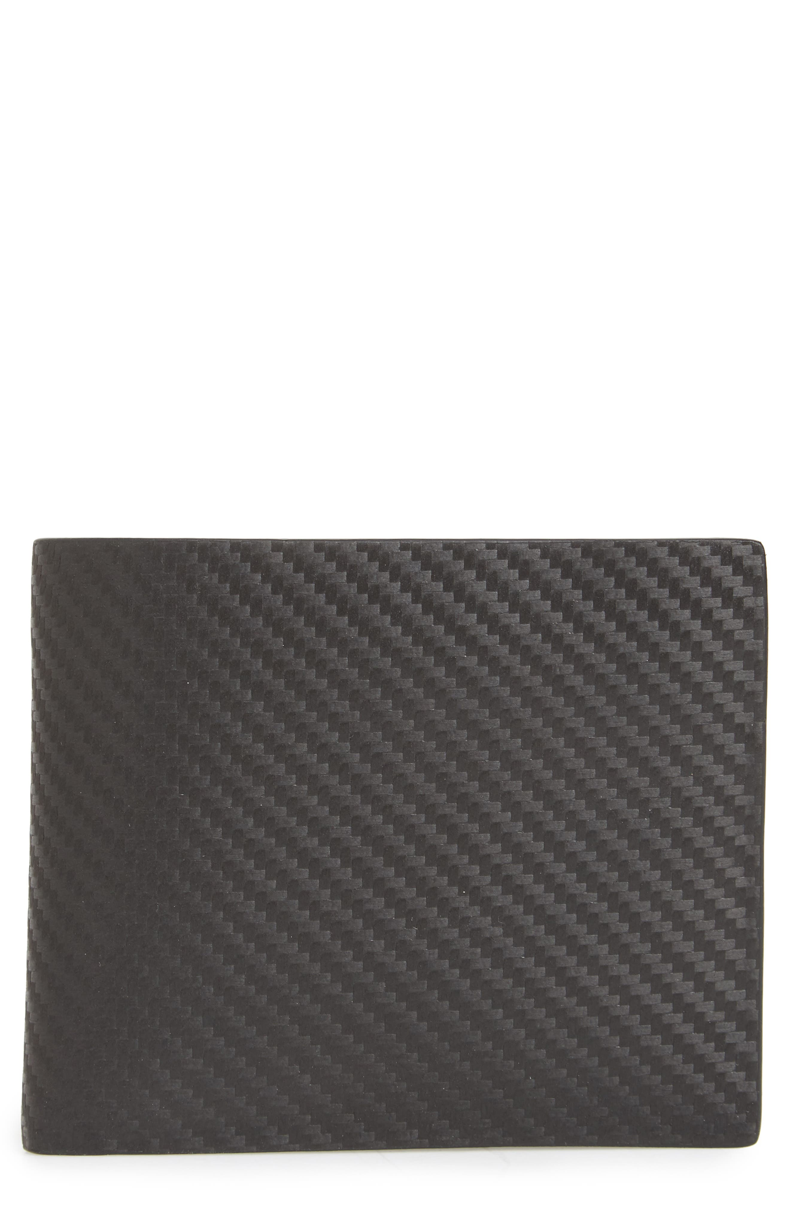 Chassis Leather Wallet,                         Main,                         color, Black