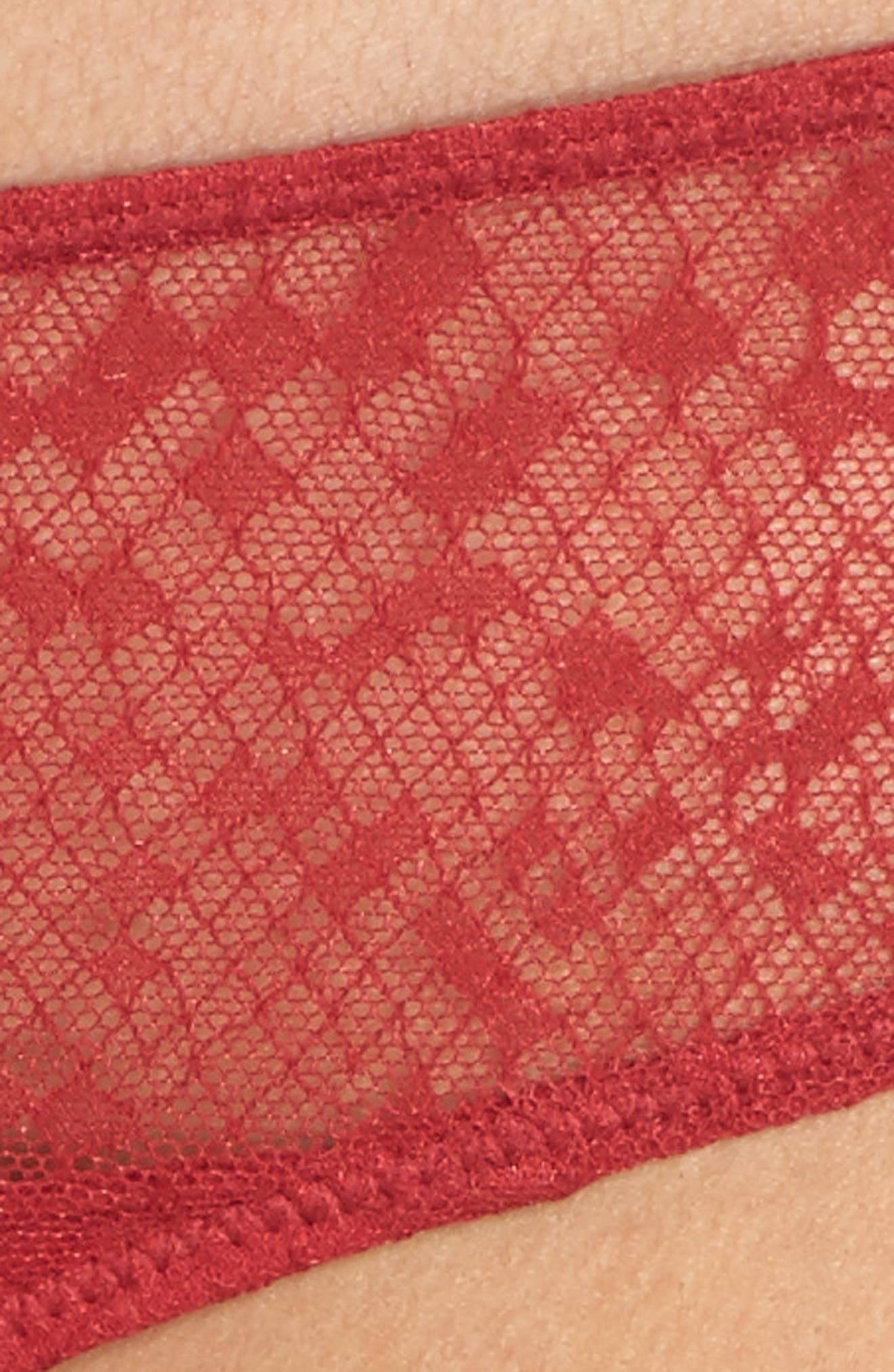Snake Lace Panties,                             Alternate thumbnail 9, color,                             College Red