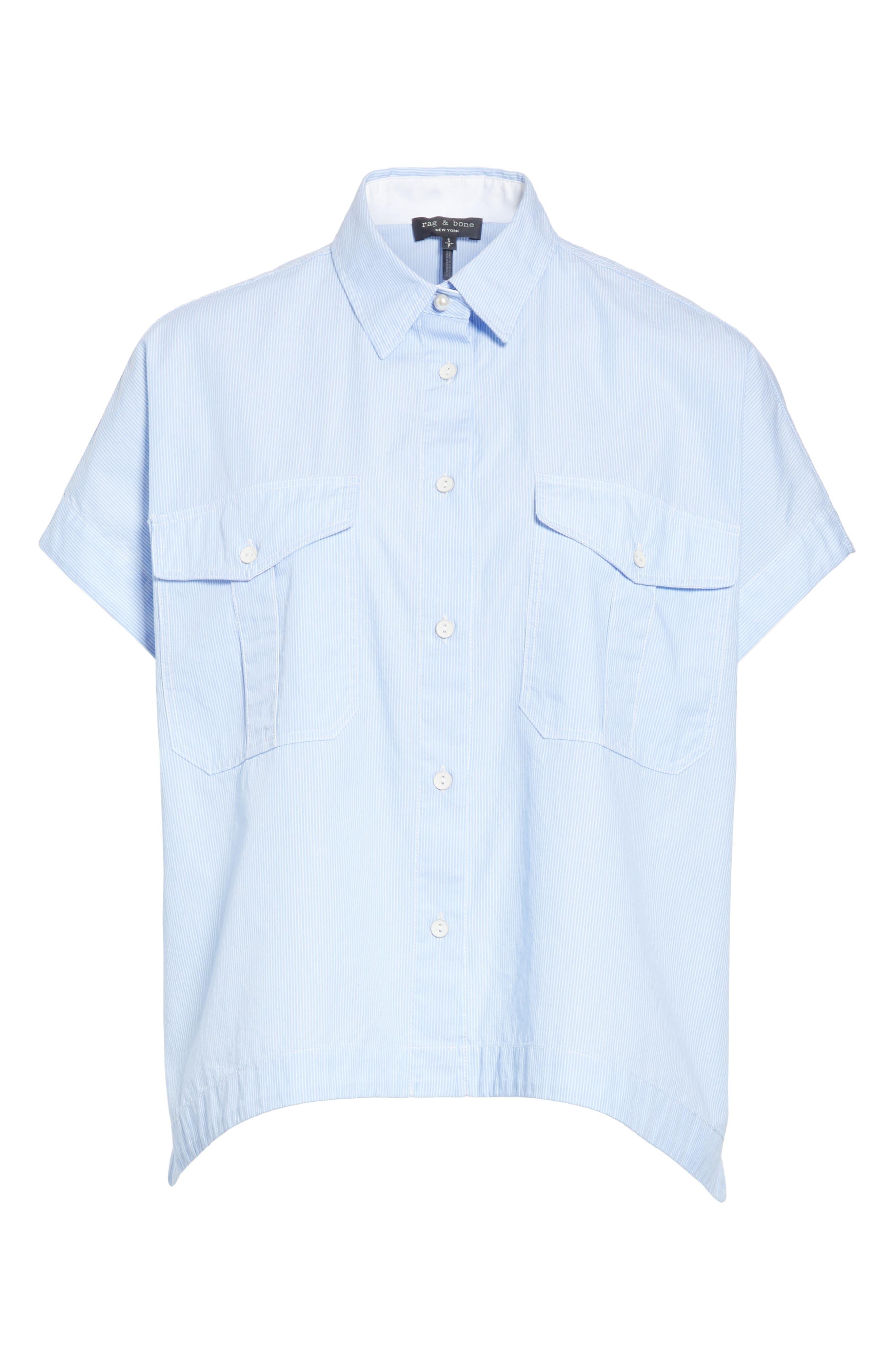 Pearson Shirt,                             Alternate thumbnail 6, color,                             Light Blue Multi