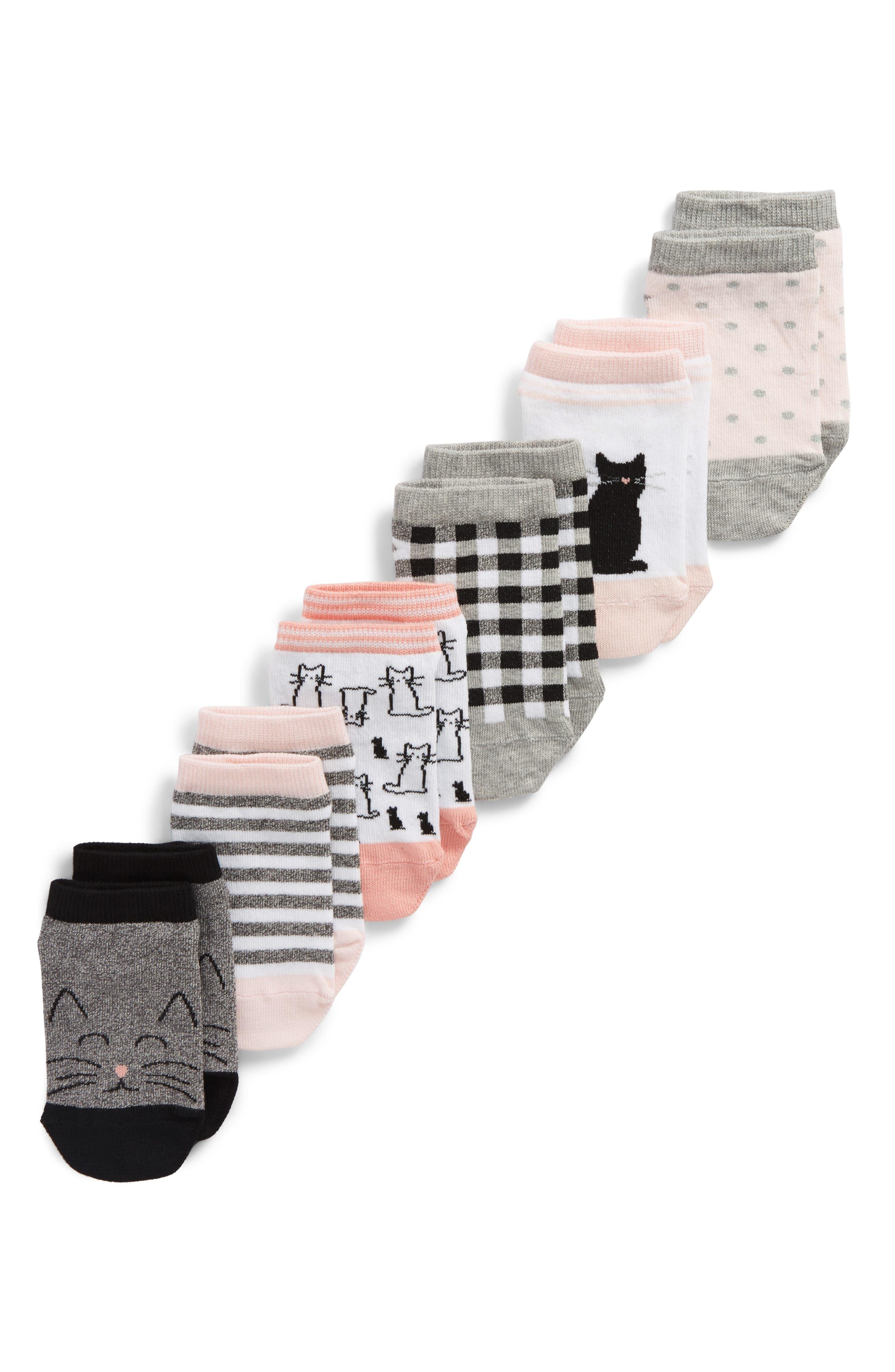 6-Pack Assorted Low Cut Socks,                             Main thumbnail 1, color,                             Black Multi