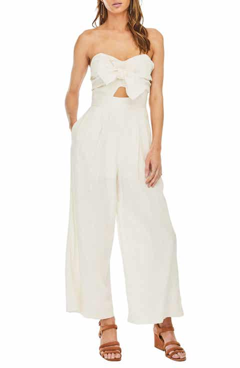 ASTR the Label Mara Strapless Jumpsuit