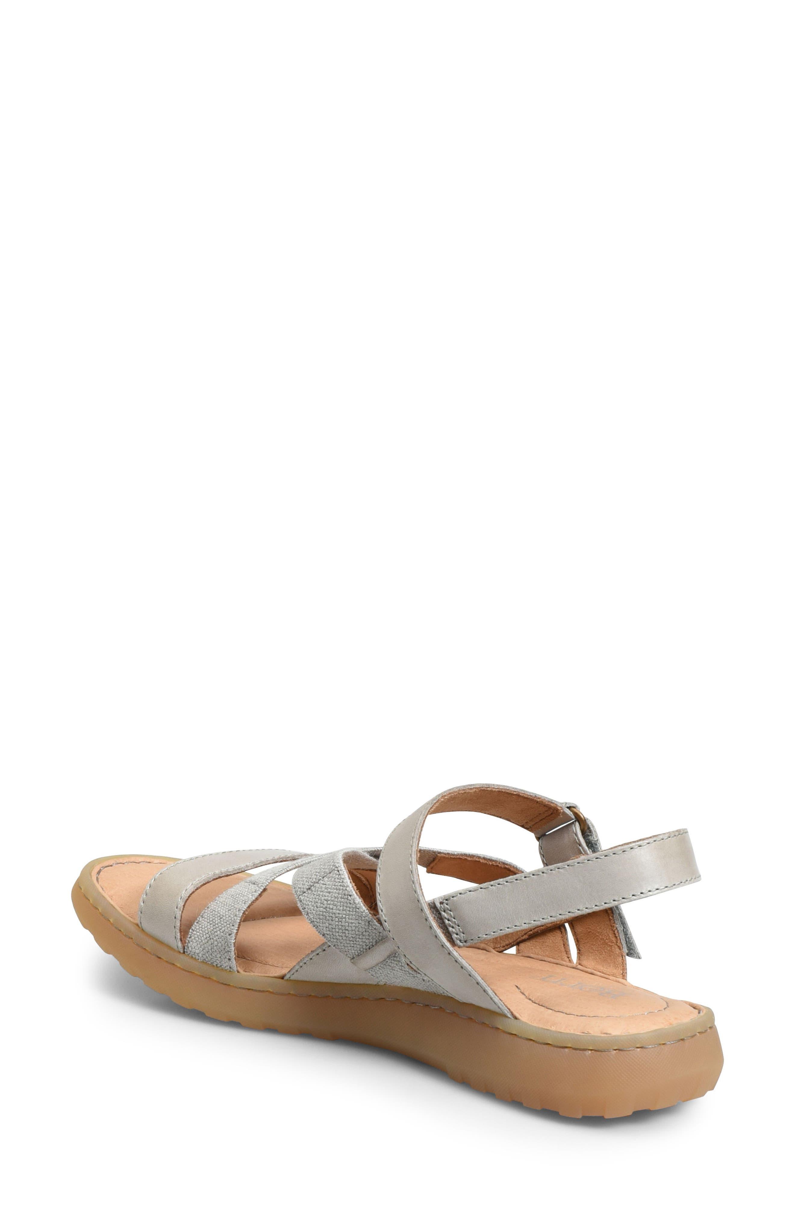 Manta Sandal,                             Alternate thumbnail 2, color,                             Light Grey Leather