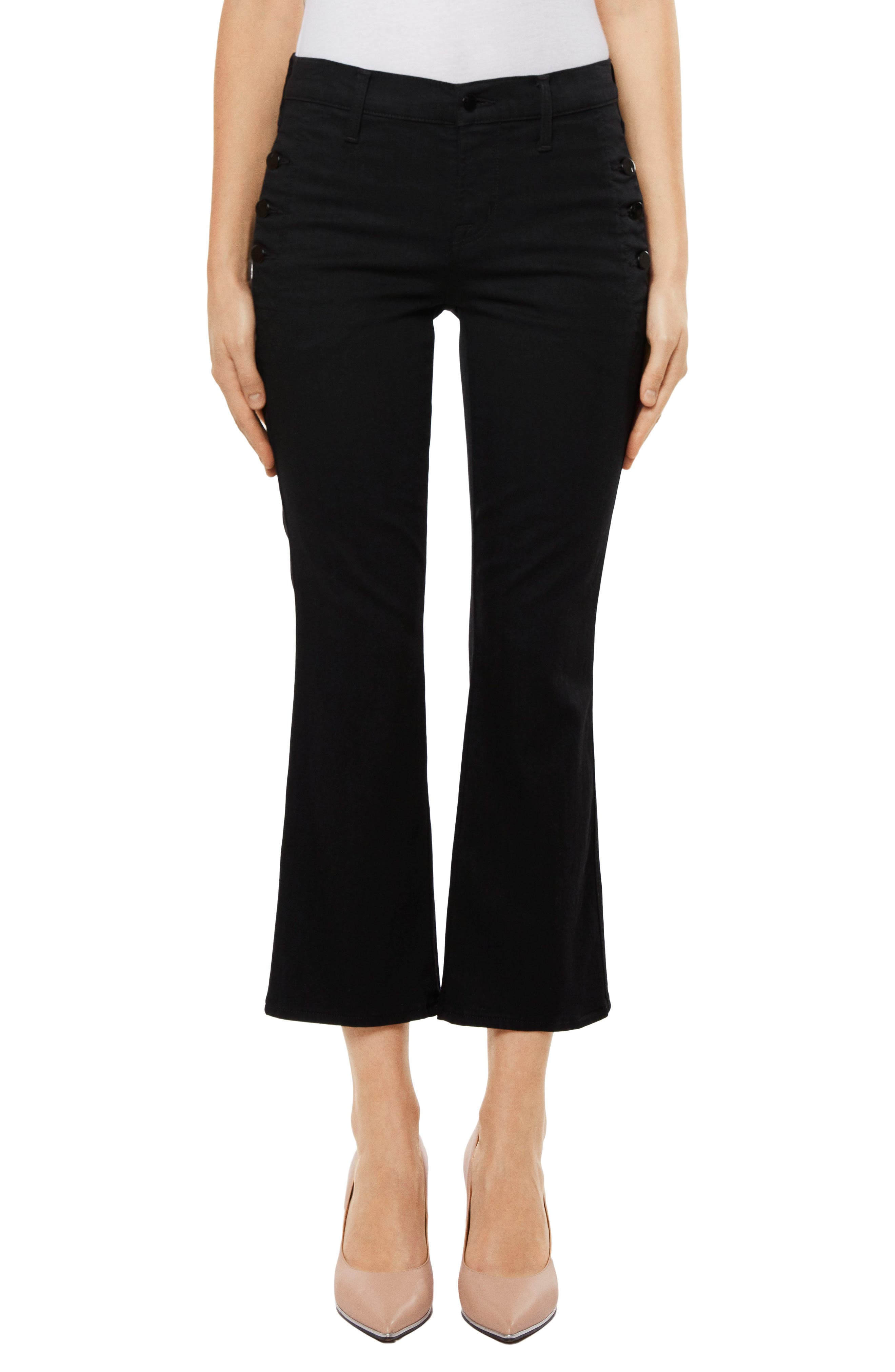 Zion Crop Flare Jeans,                             Main thumbnail 1, color,                             Vanity