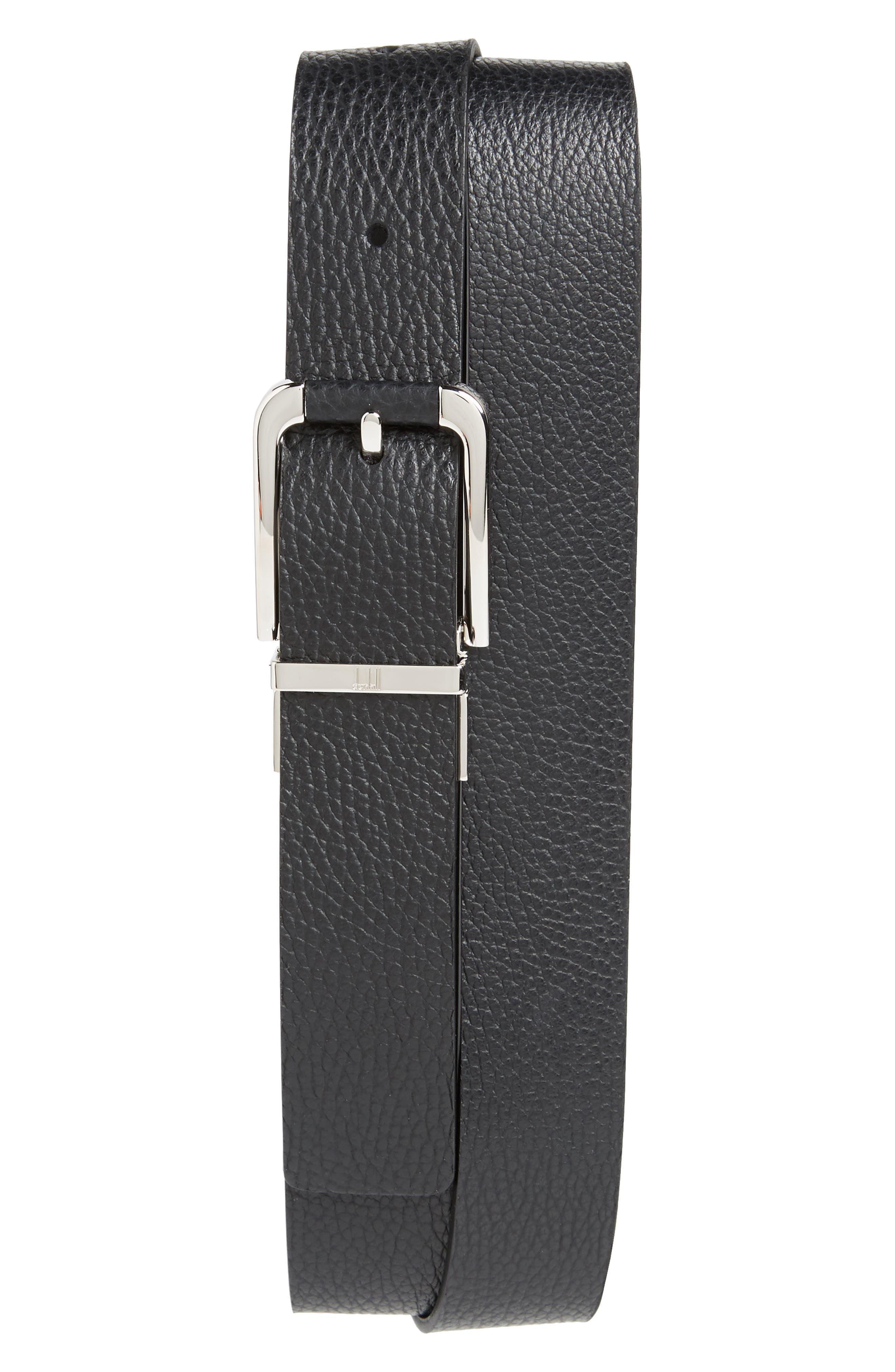Avorities Grain Leather Belt,                             Main thumbnail 1, color,                             Black
