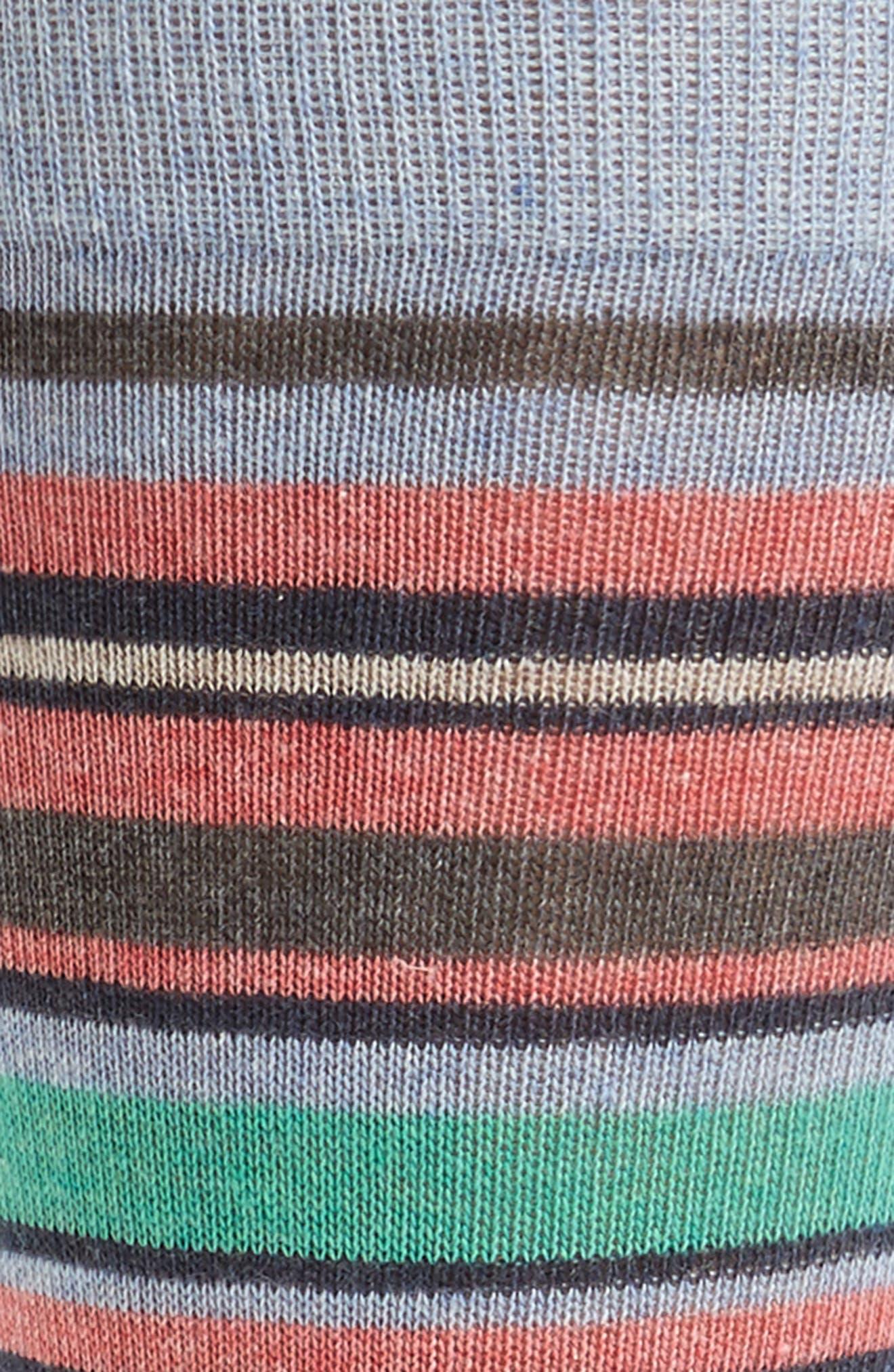 Stripe Cotton Blend Socks,                             Alternate thumbnail 2, color,                             Light Blue