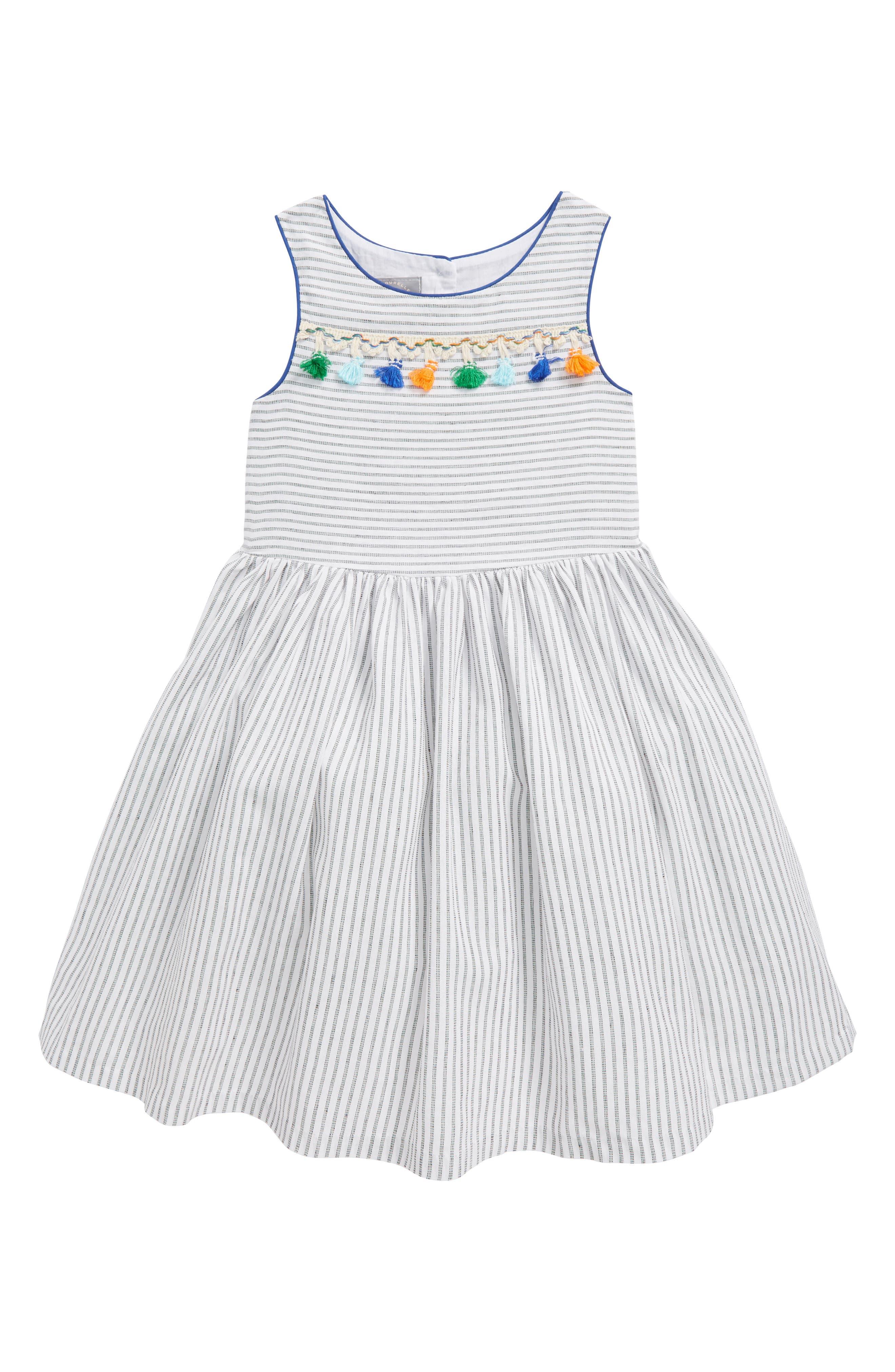 Pastourelle by Pippa & Julie Stripe Sleeveless Dress (Toddler Girls, Little Girls & Big Girls)