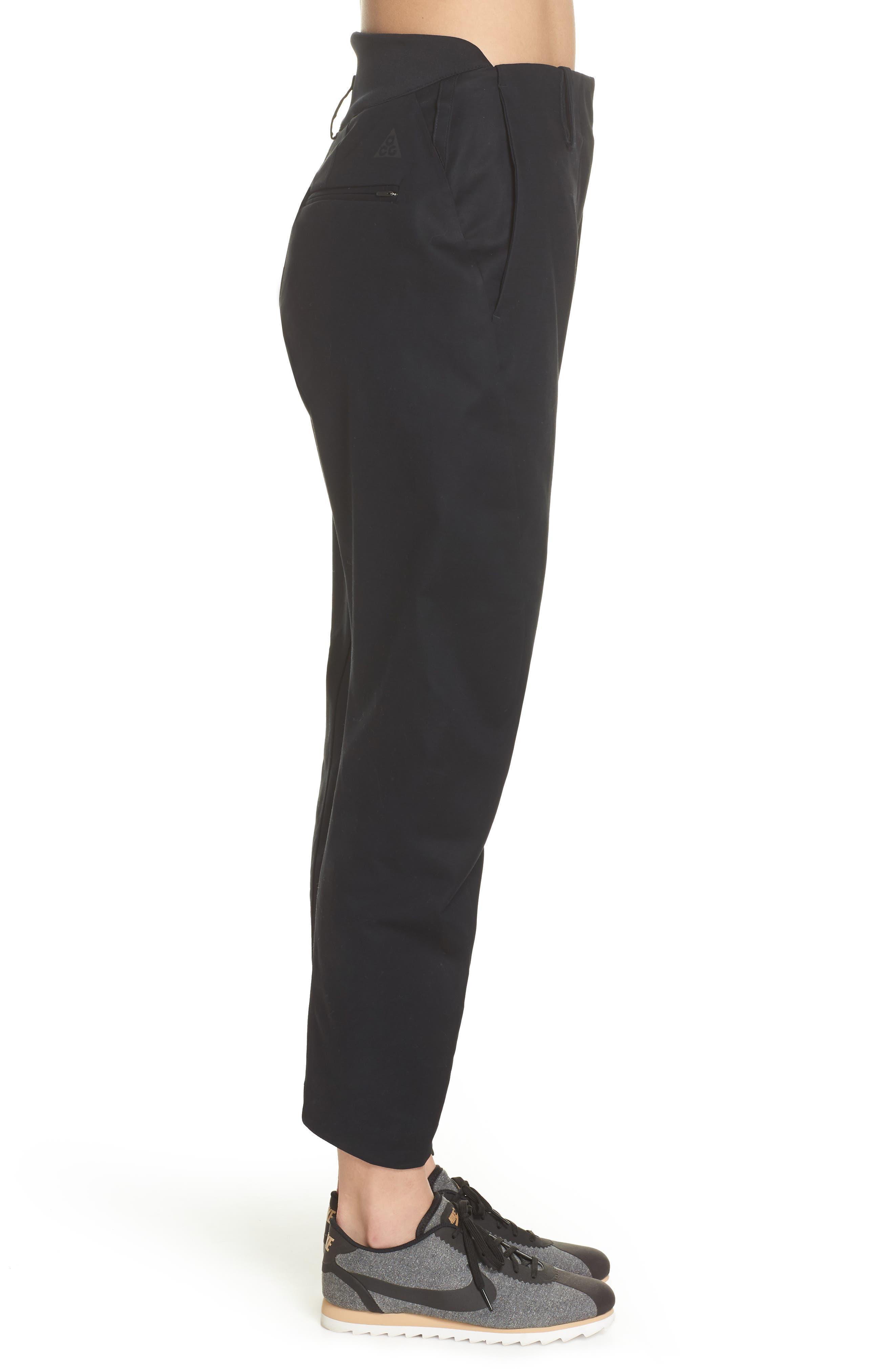 NikeLab ACG Tech Woven Pants,                             Alternate thumbnail 3, color,                             Black