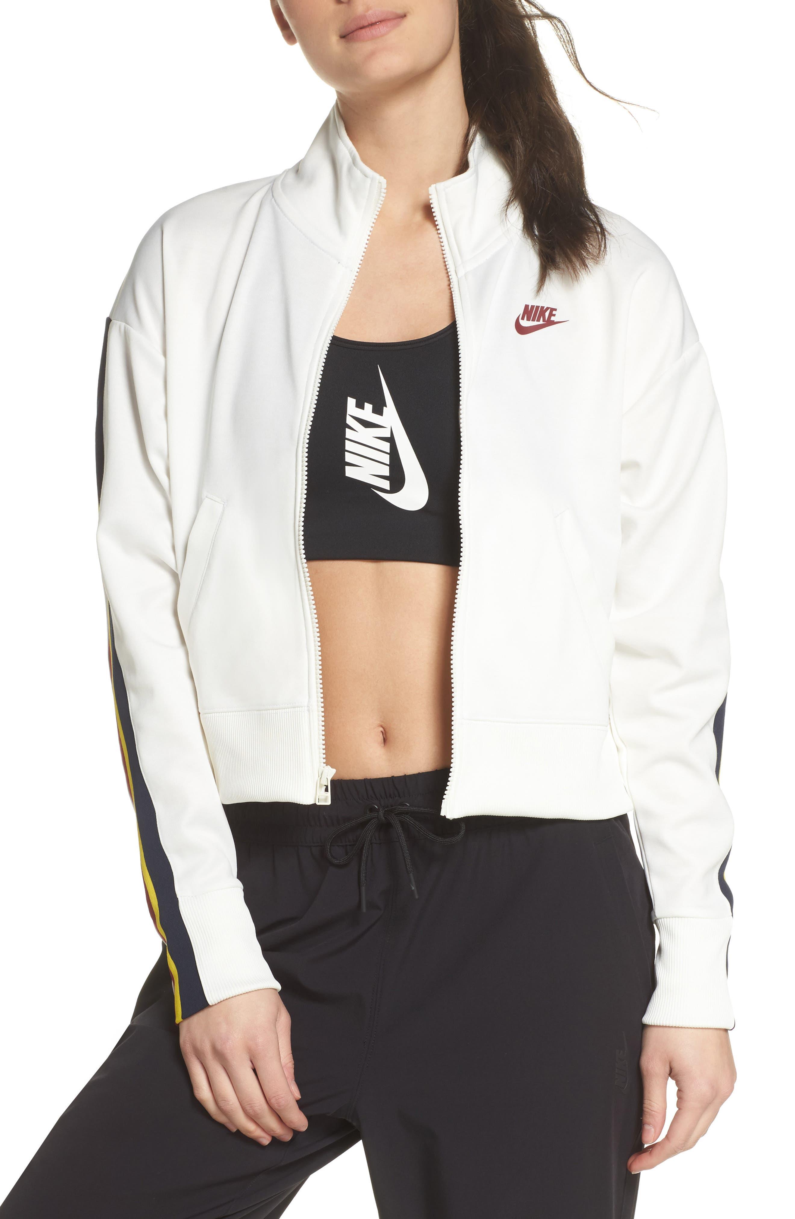 Sportswear Crop Jacket,                         Main,                         color, Sail/ Team Red