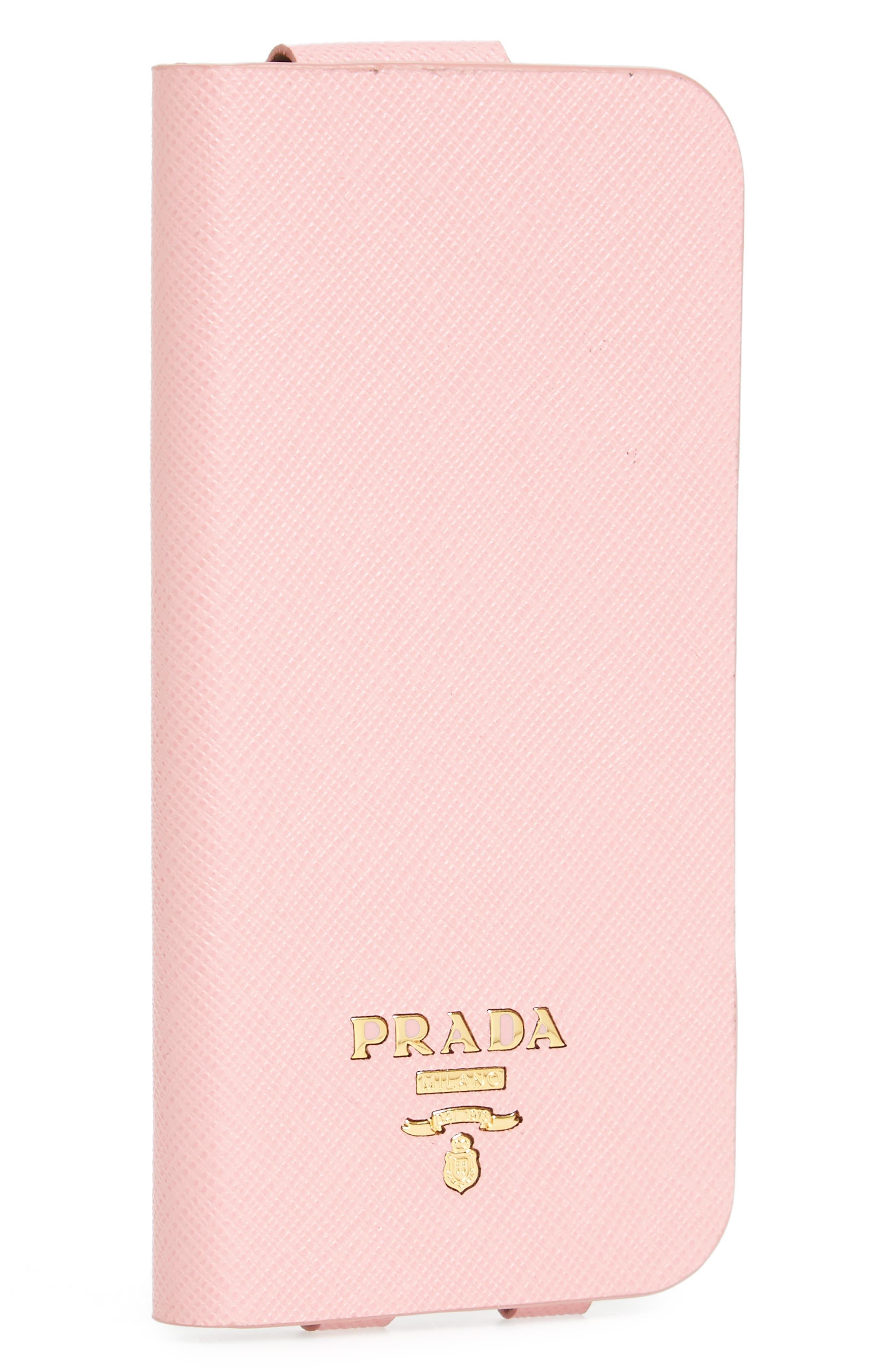 Oro Saffiano Leather iPhone 7 Plus Folio,                             Main thumbnail 1, color,                             Petalo